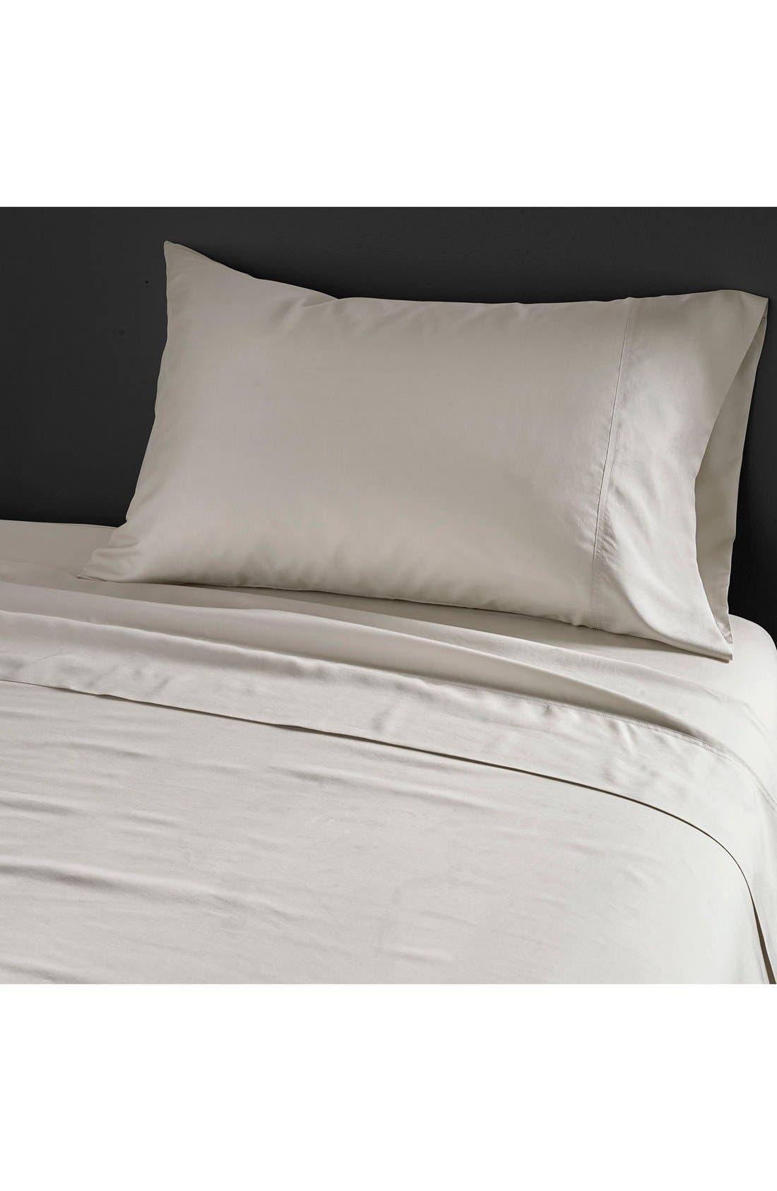 Donna Karan Collection 'Silk Essentials' Habutai Silk Pillowcase,                             Main thumbnail 1, color,                             Platinum