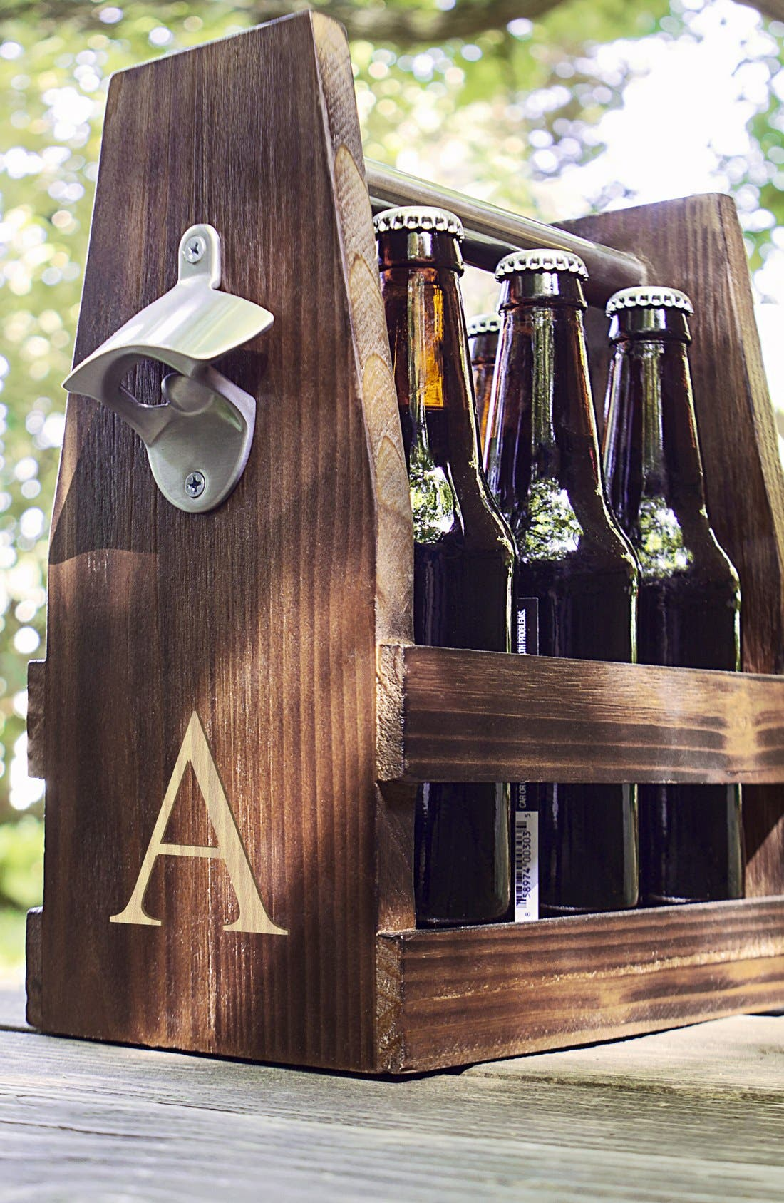 Alternate Image 1 Selected - Cathy's Concepts Monogram Craft Beer Carrier