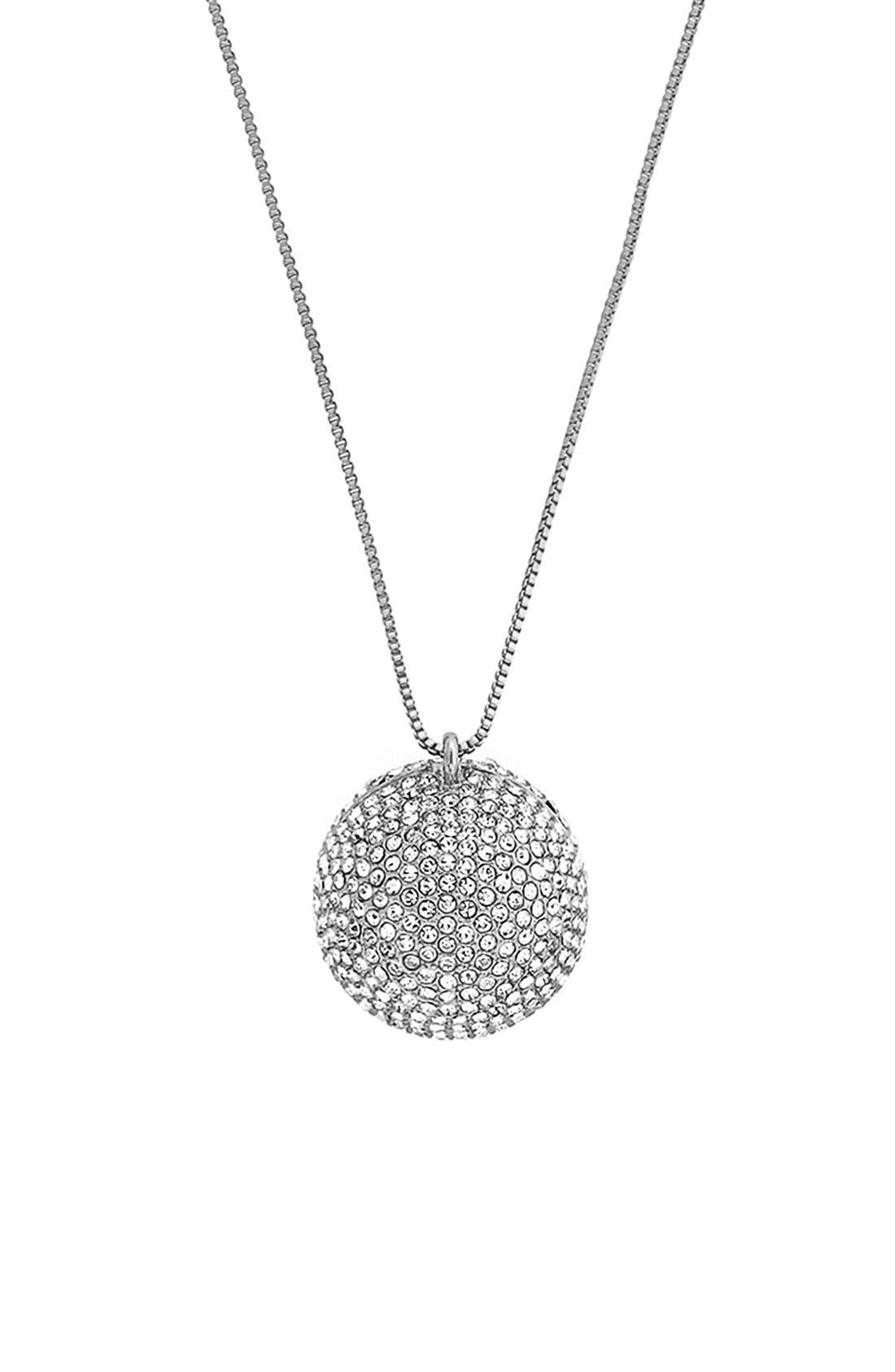 Main Image - Vince Camuto Pavé Ball Locket Long Pendant Necklace