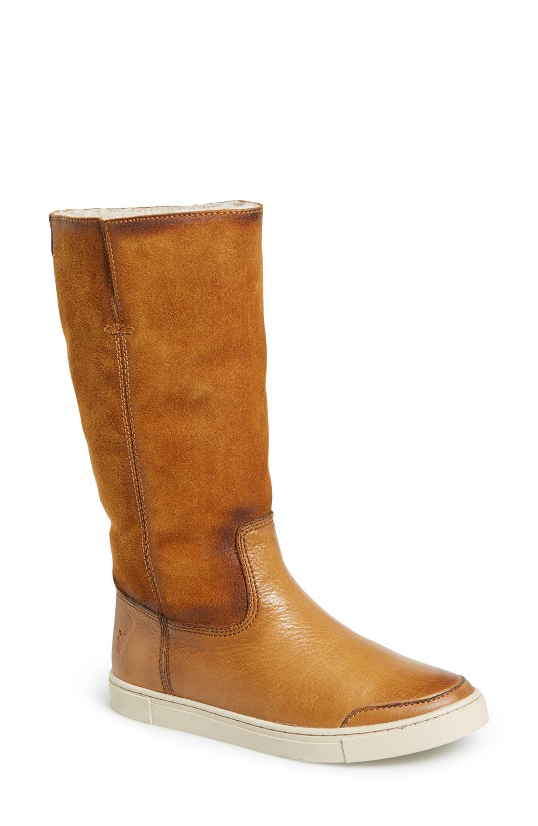 Main Image - Frye 'Gemma' Tall Genuine Shearling Lined Boot (Women)