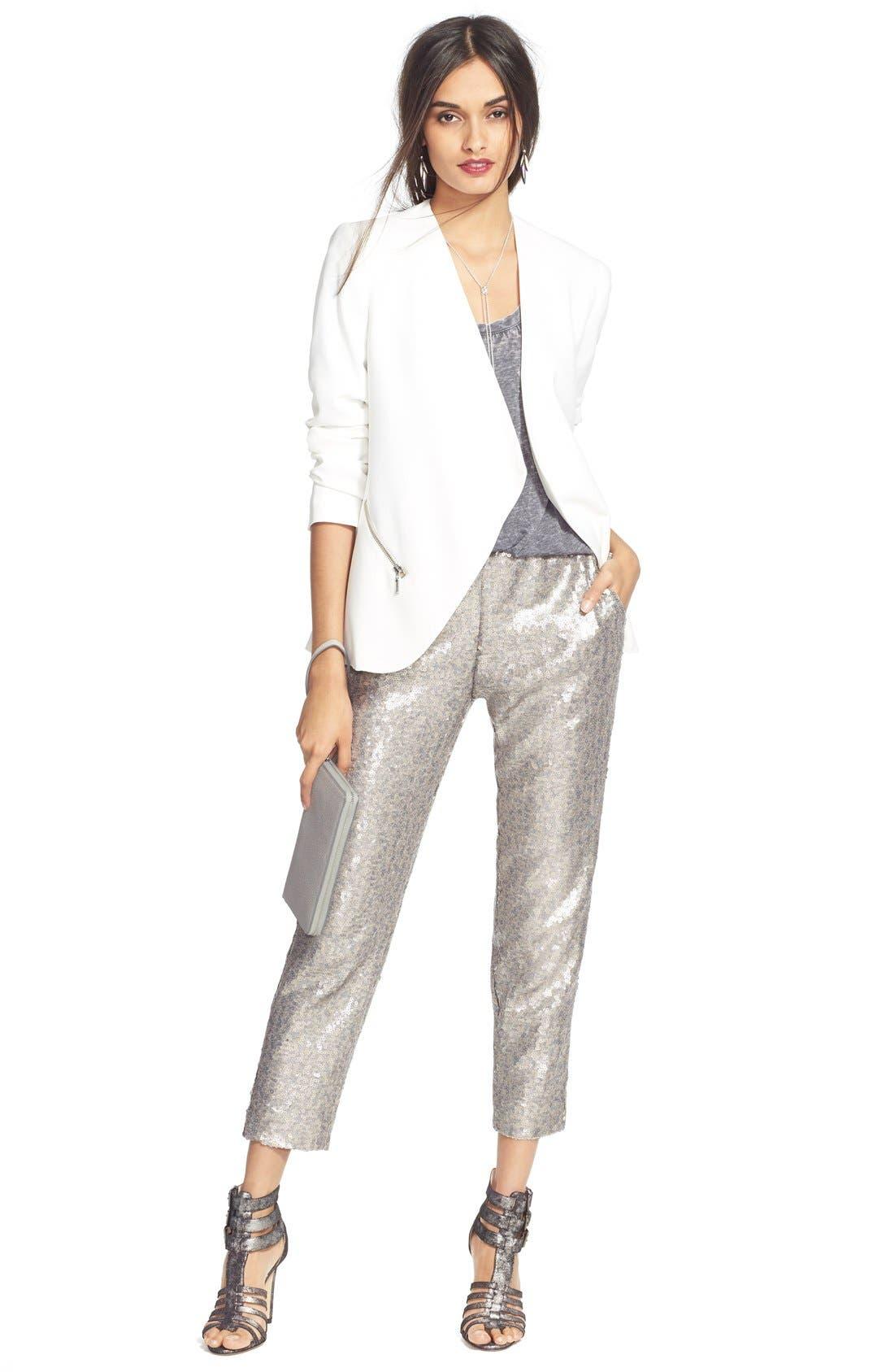 Alternate Image 2  - Chelsea28 Sequin Pants