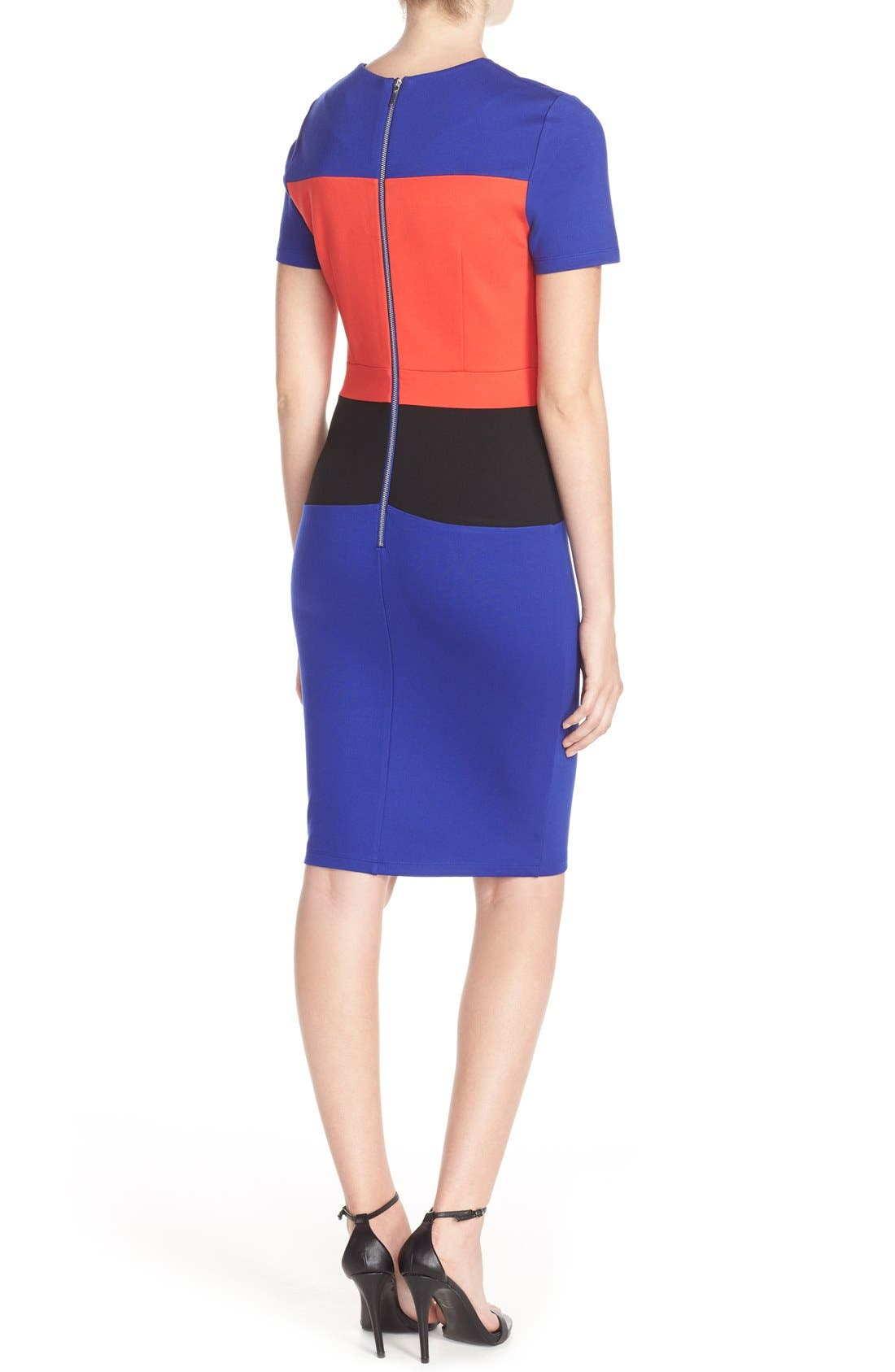 Alternate Image 2  - French Connection ColorblockJersey Sheath Dress