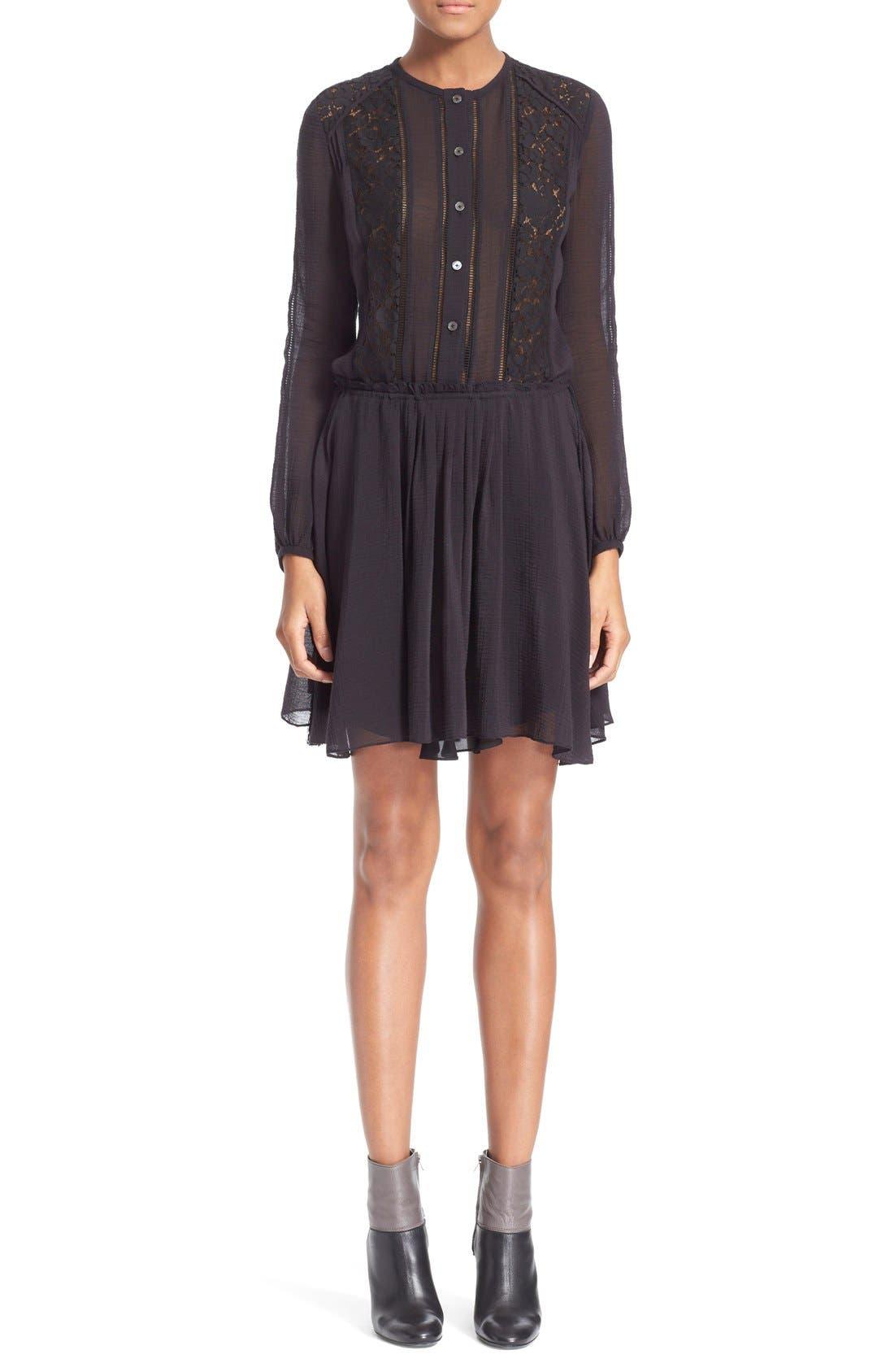 Alternate Image 1 Selected - Derek Lam 10 Crosby Lace Inset Dress