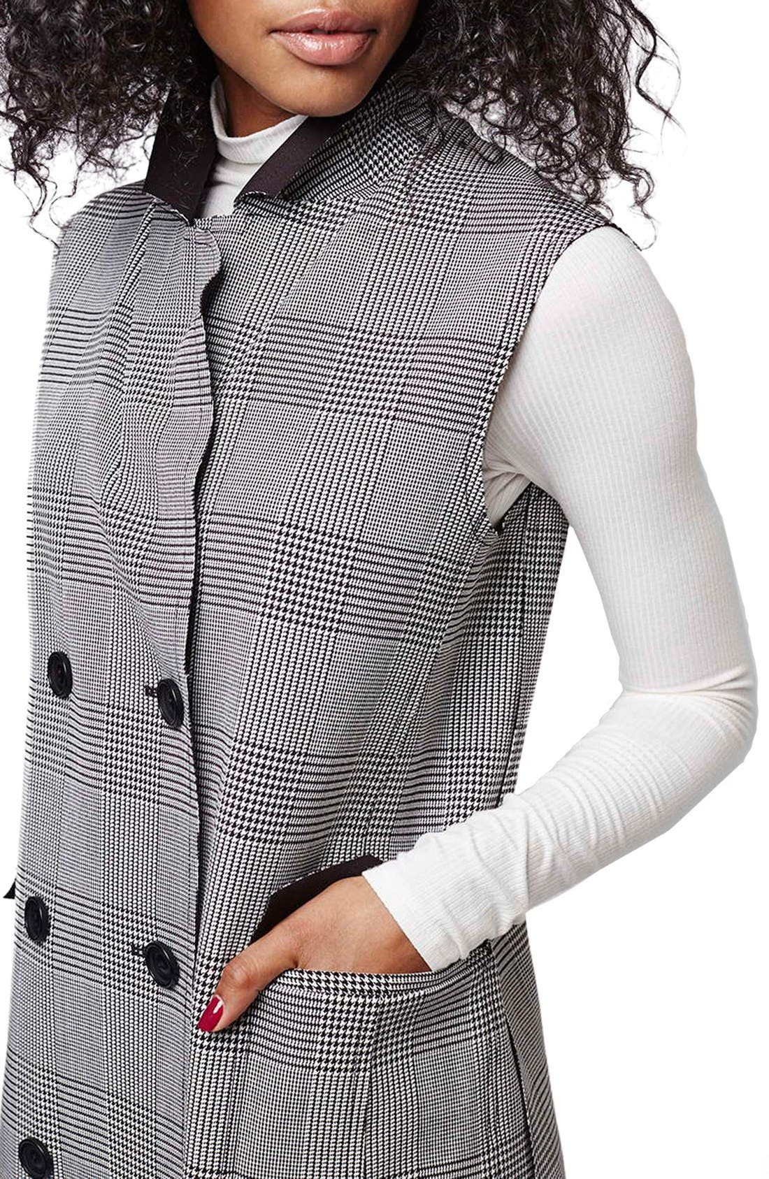 Alternate Image 5  - Topshop Prince of Wales Double Breasted Vest