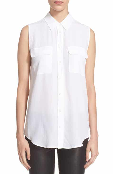 b65f48f6d2b8c Equipment  Slim Signature  Sleeveless Silk Shirt