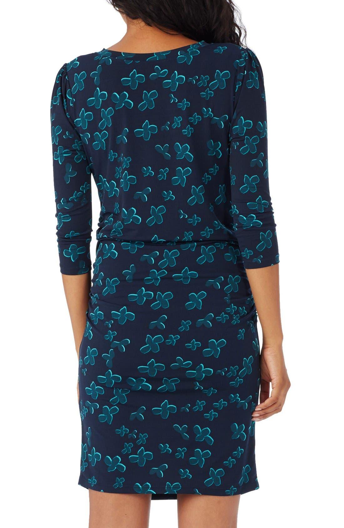 'Stephanie' Knit Maternity Dress,                             Alternate thumbnail 2, color,                             Indigo Multi