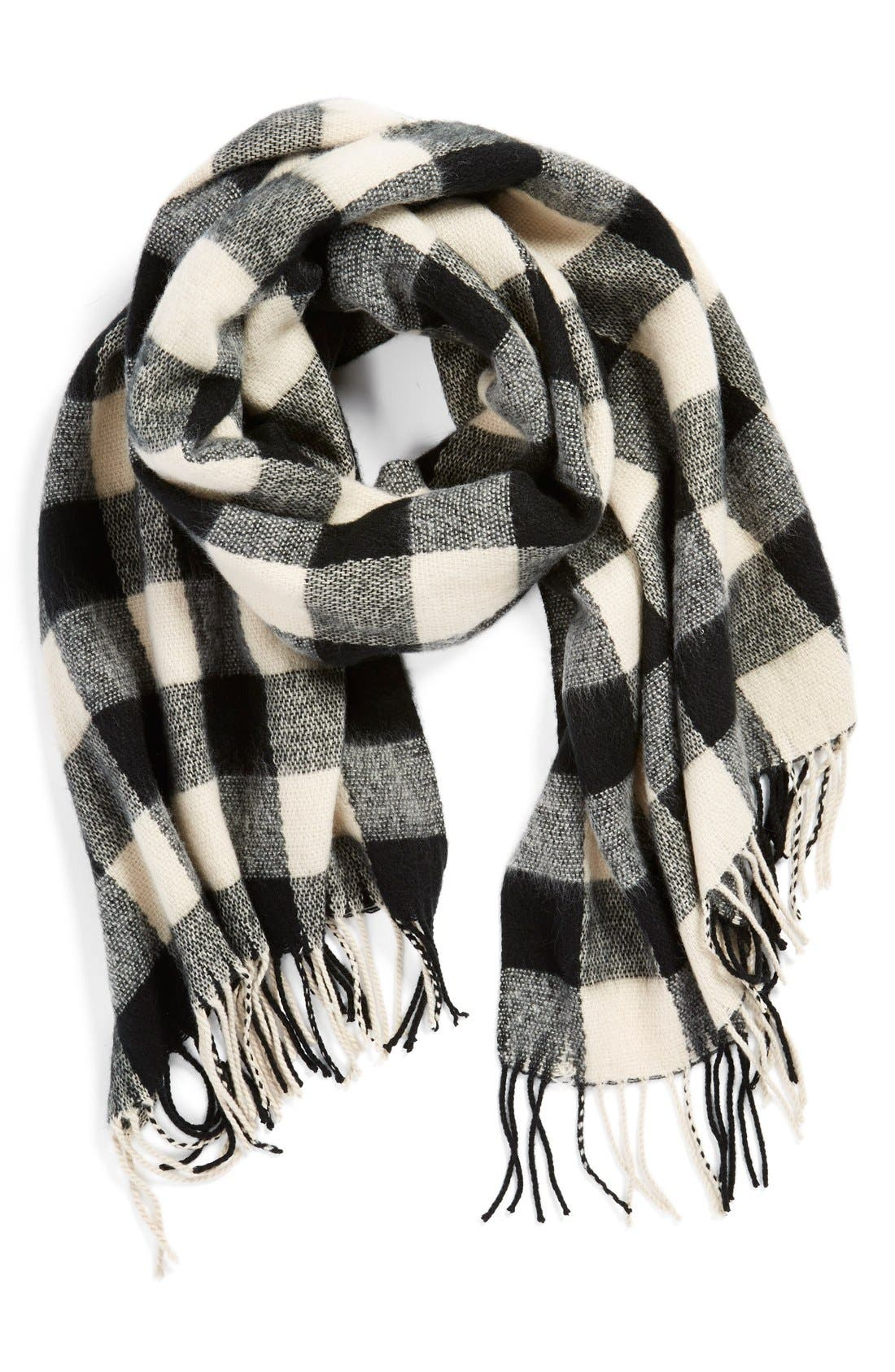 BP. Buffalo Plaid Oblong Scarf