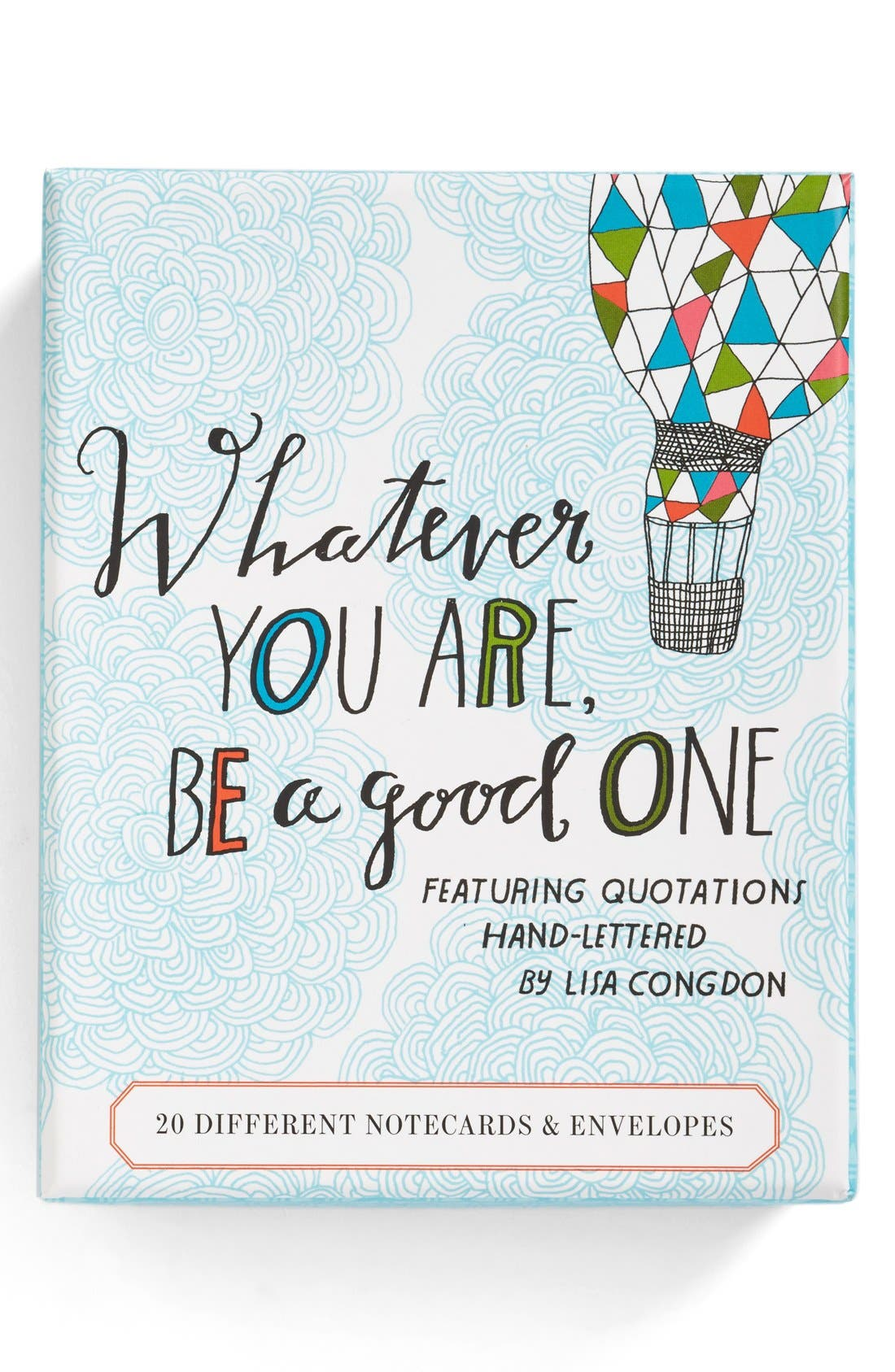 Alternate Image 1 Selected - 'Whatever You Are, Be a Good One' Note Cards (Set of 20)