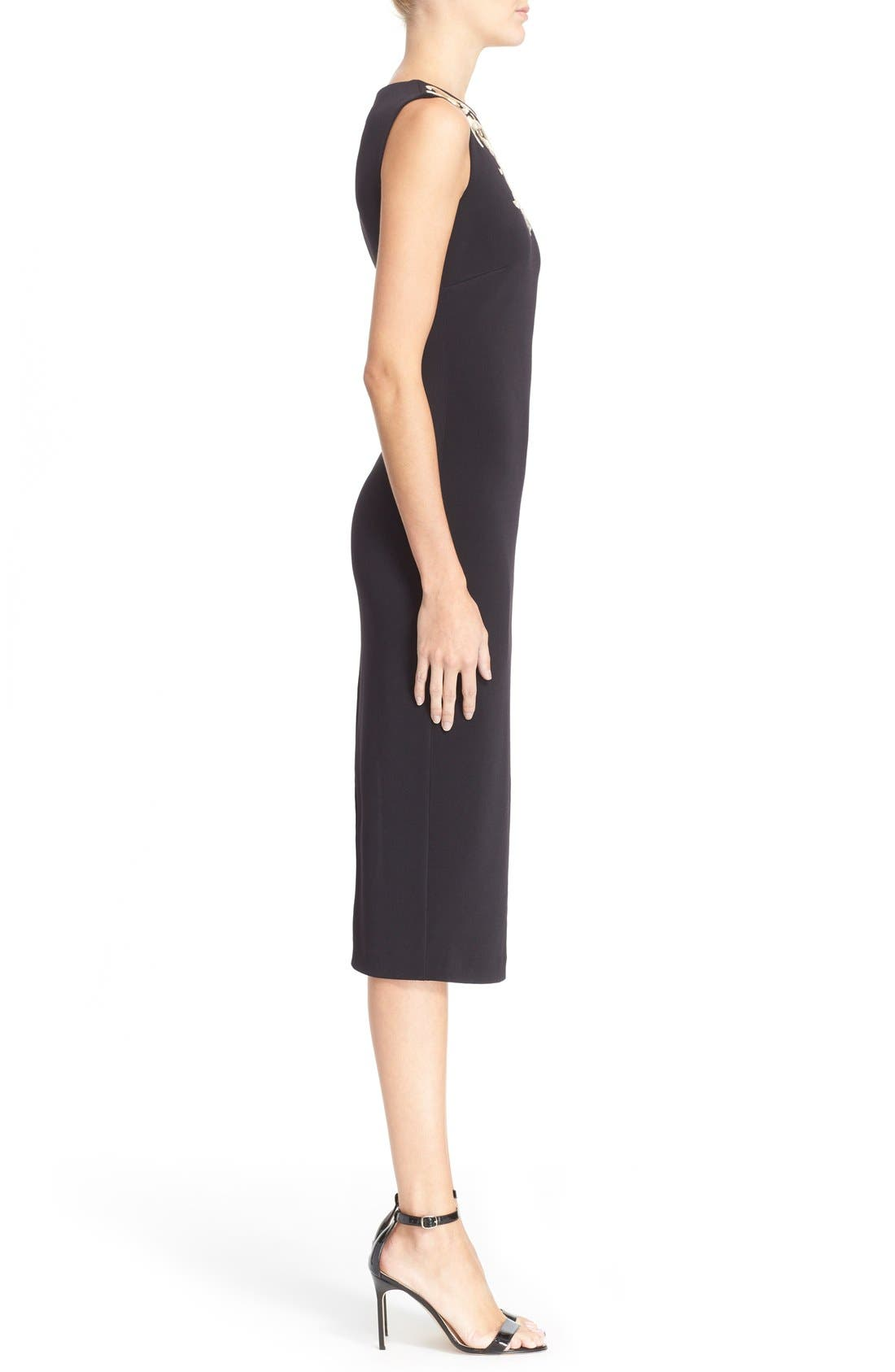 Alternate Image 3  - Ted Baker London 'Tammara' Embroidered Midi Sheath Dress