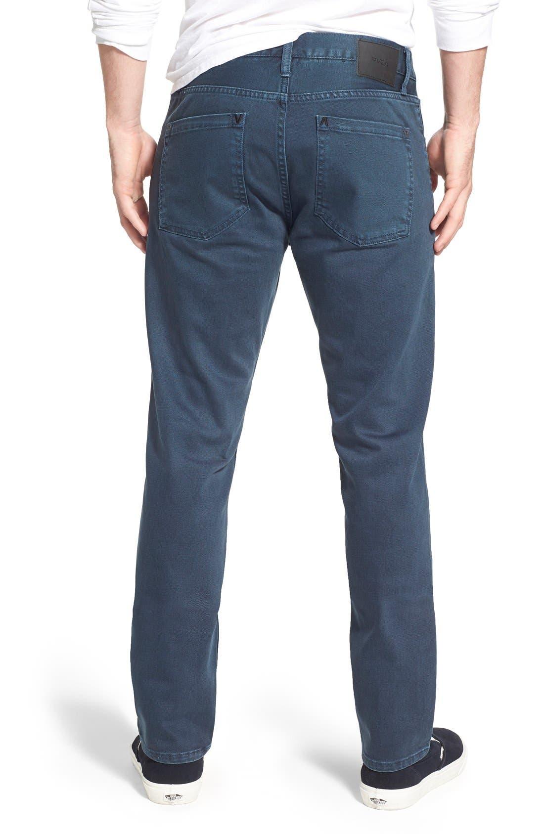 Alternate Image 2  - RVCA 'Daggers' Slim Fit Jeans (Army Drab)