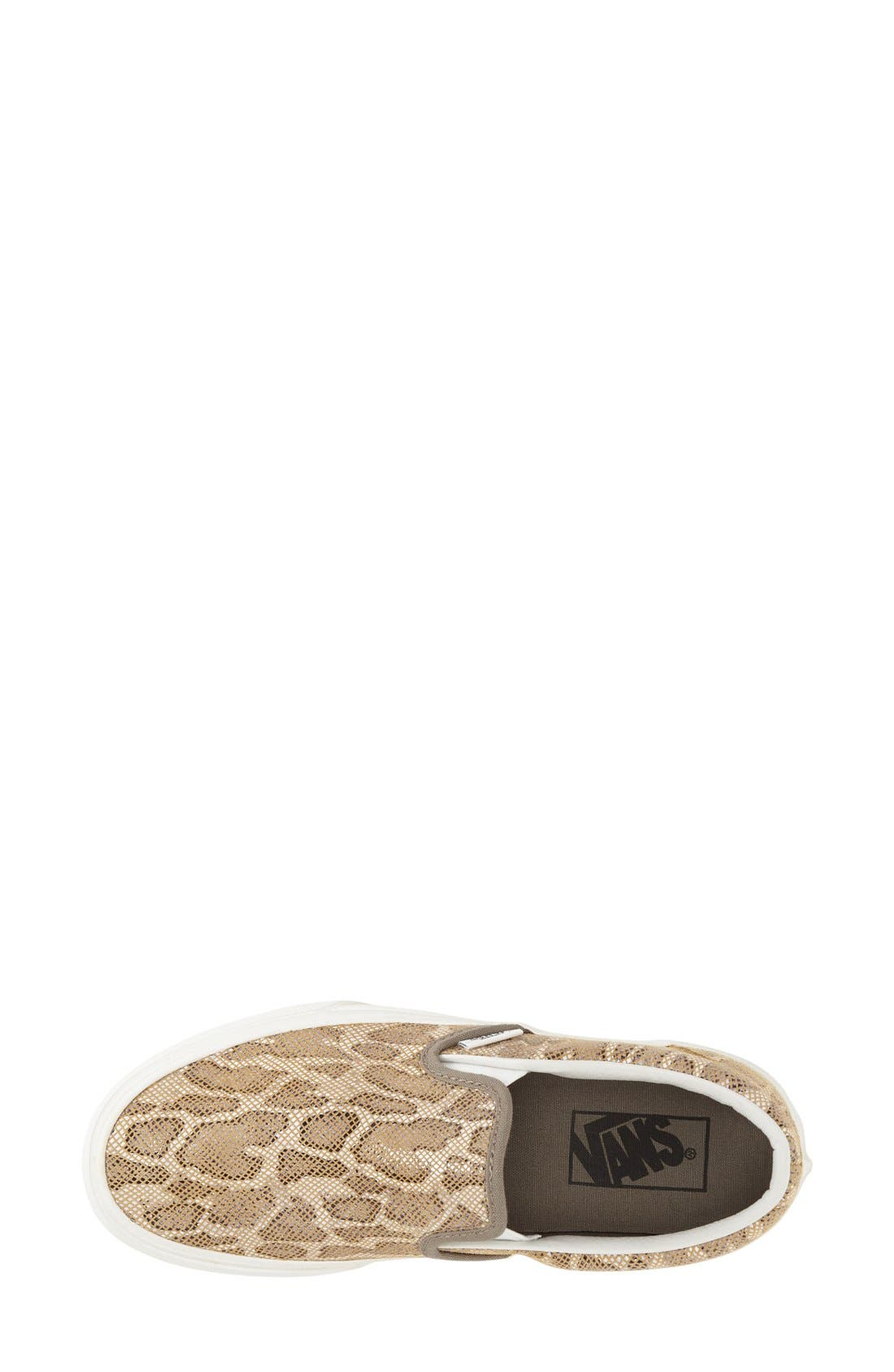 Alternate Image 3  - Vans 'Classic' Leopard Print Slip-On (Women)