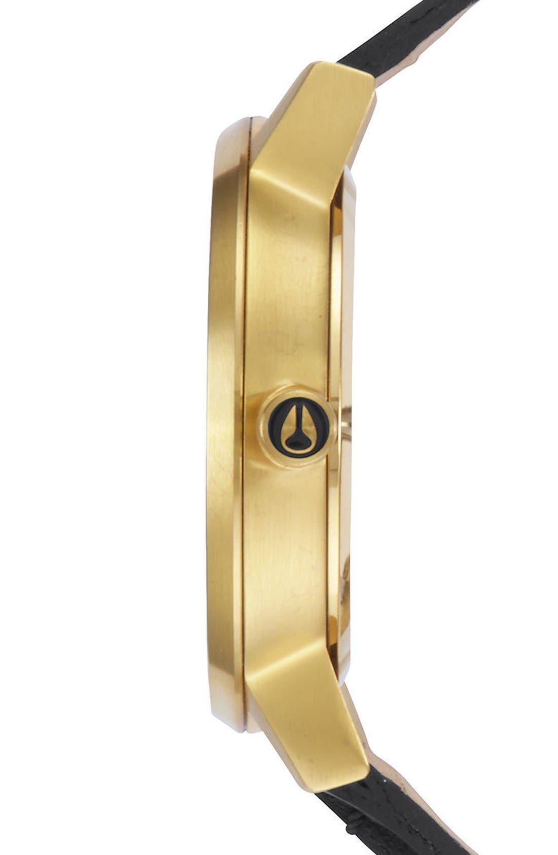 Alternate Image 3  - Nixon 'The Kensington' Leather Strap Watch, 37mm
