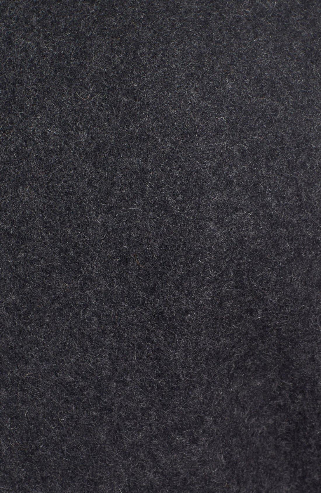 Slim Fit Wool Blend Peacoat,                             Alternate thumbnail 5, color,                             Dark Oxford Grey