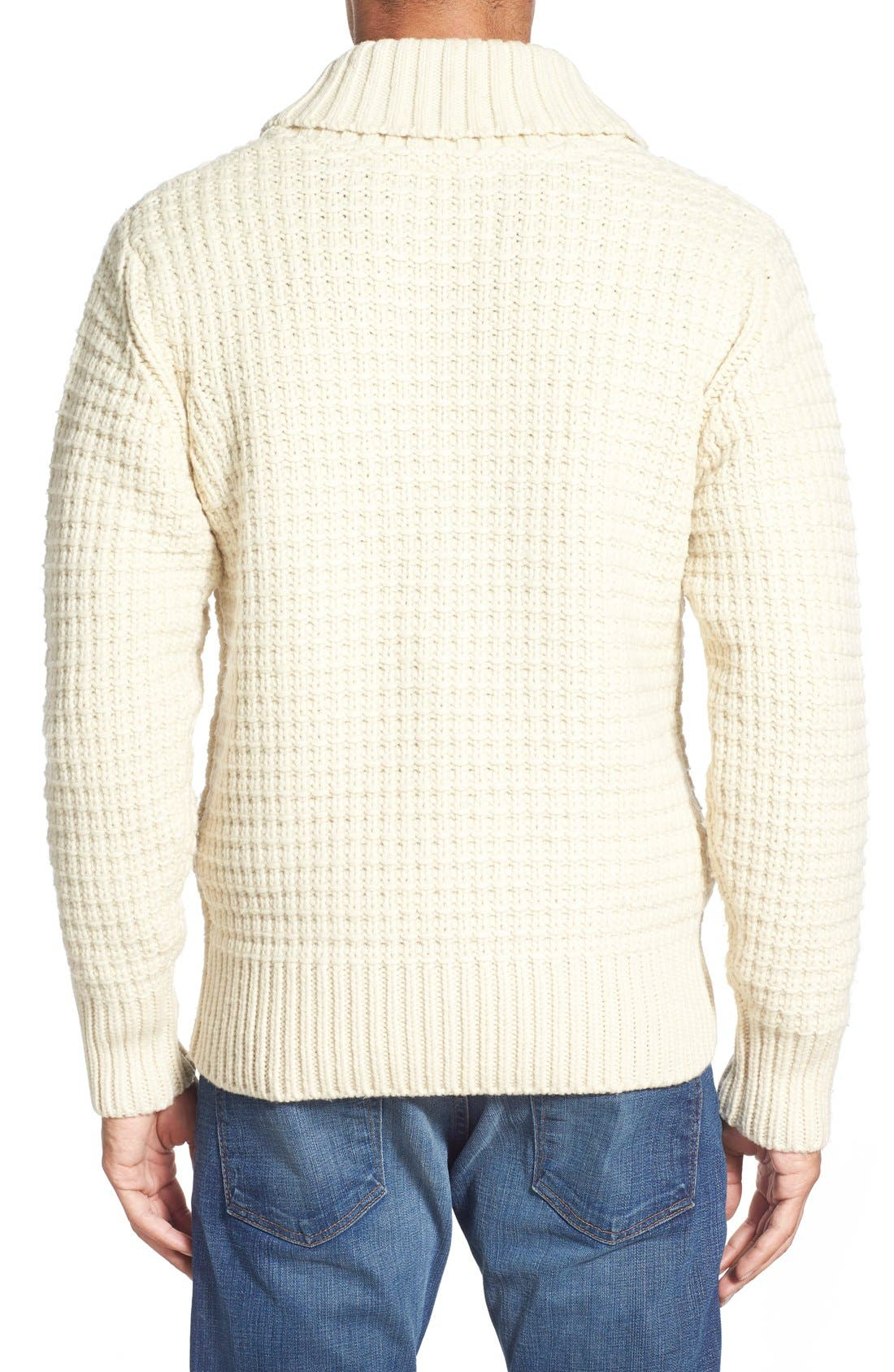 Shawl Collar Knit Pullover,                             Alternate thumbnail 2, color,                             Off White