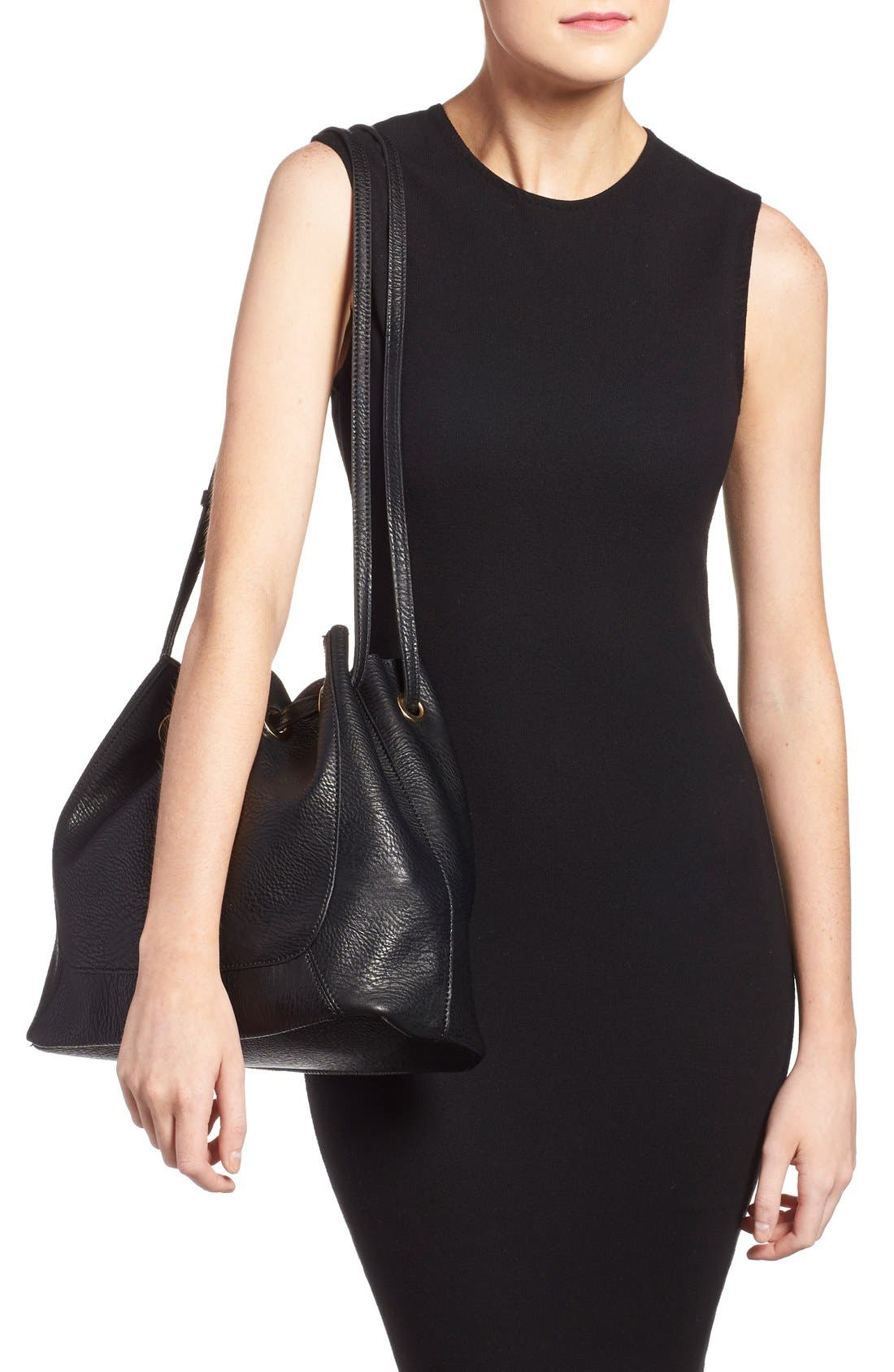 Alternate Image 2  - Street Level Faux Leather Shoulder Bag