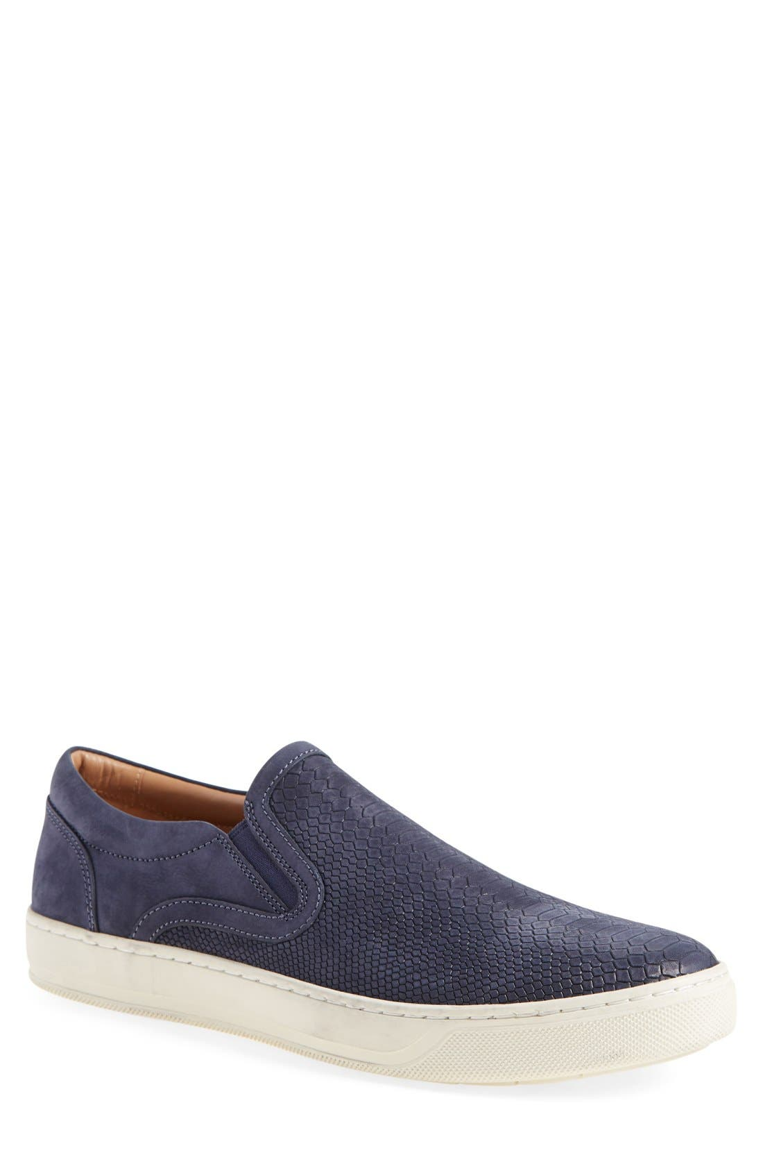 'Ace' Slip-On,                         Main,                         color, Navy Leather