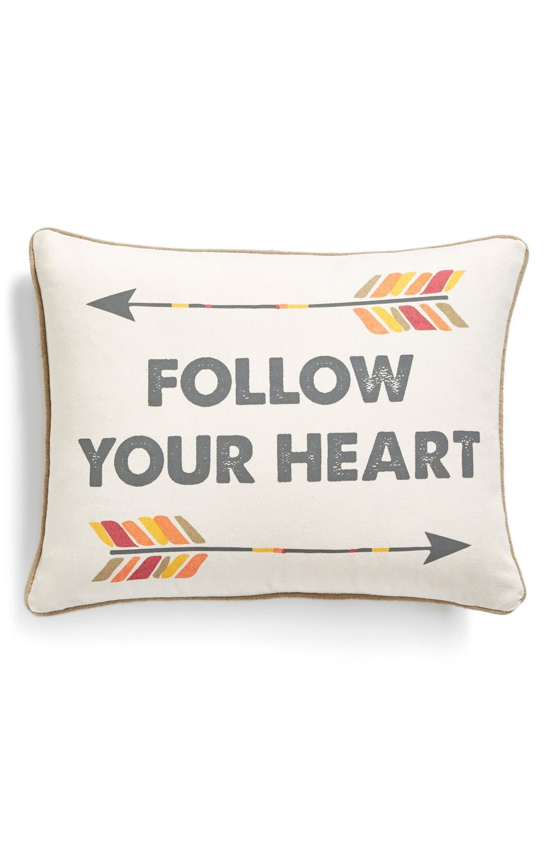 Alternate Image 1 Selected - Levtex 'Follow Your Heart' Pillow