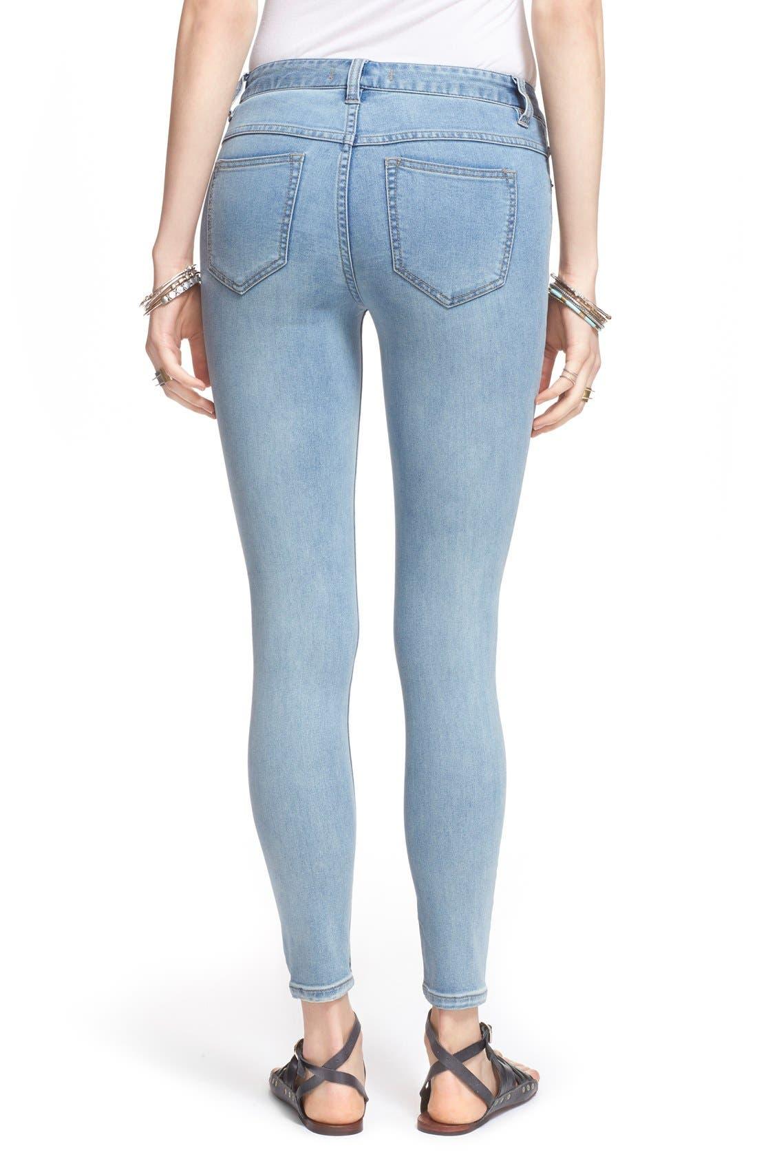 Alternate Image 2  - Free People Destroyed Skinny Jeans