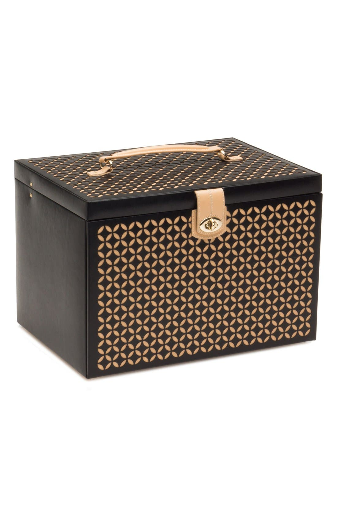 'Chloe' Jewelry Box,                             Alternate thumbnail 6, color,                             Black