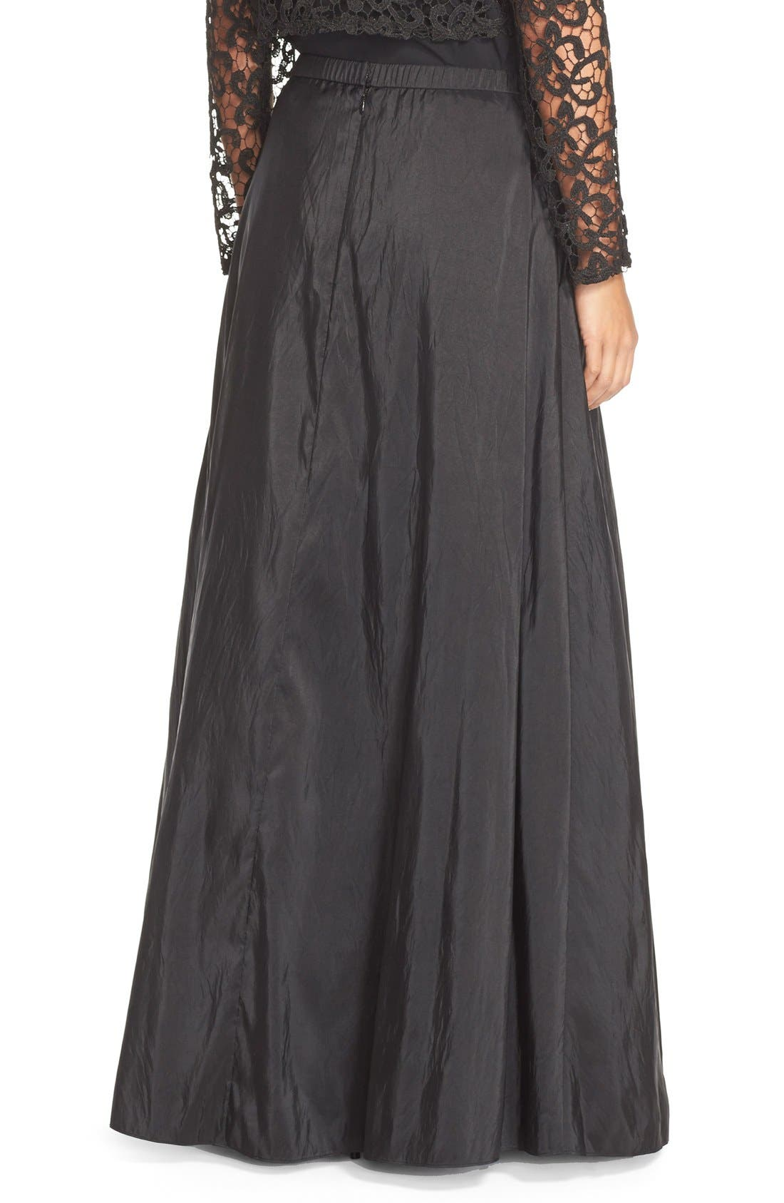 Taffeta Ball Skirt,                             Alternate thumbnail 2, color,                             Black