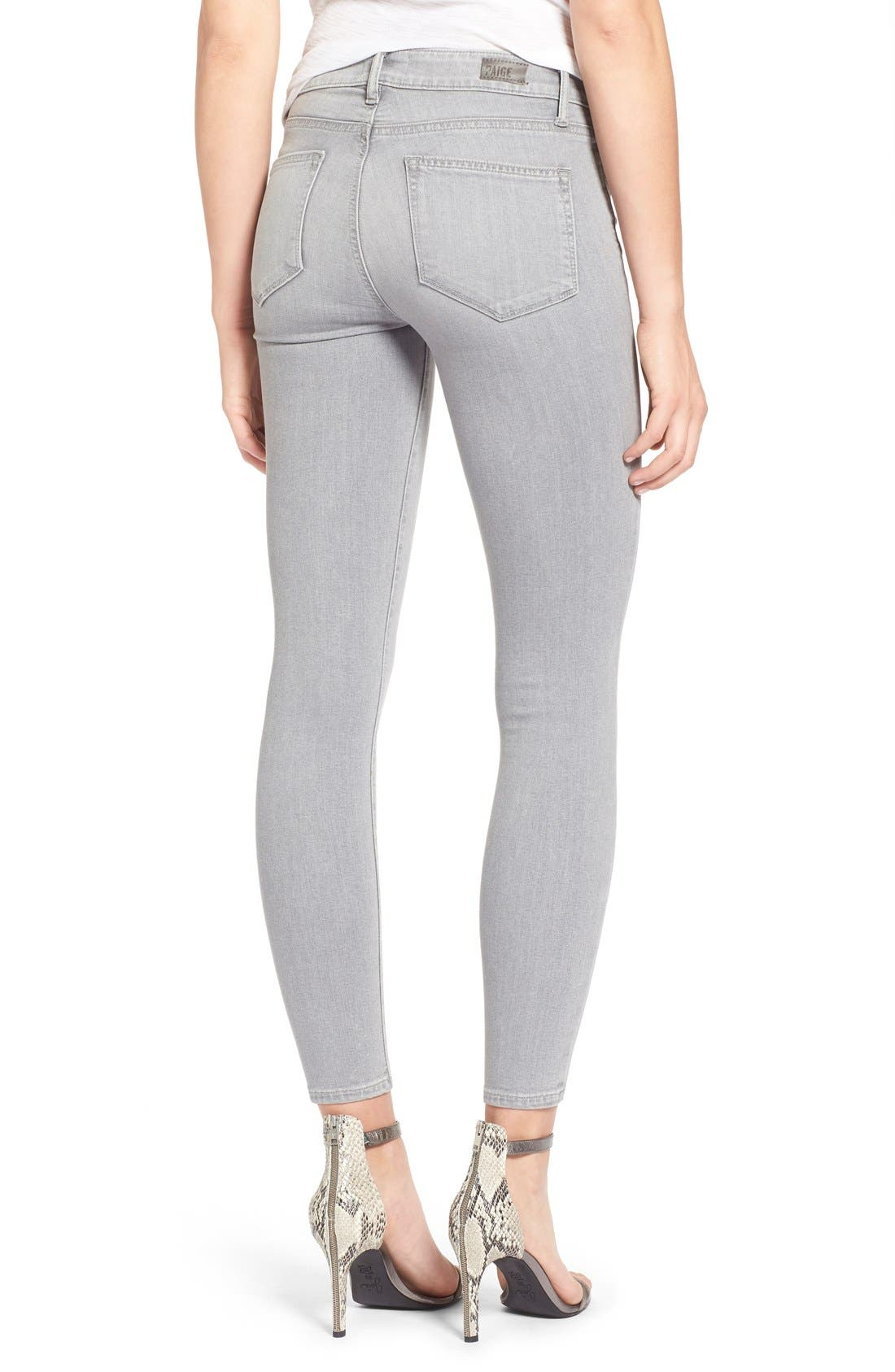 Alternate Image 3  - Paige Denim 'Verdugo' Ankle Skinny Jeans (Dove Grey)