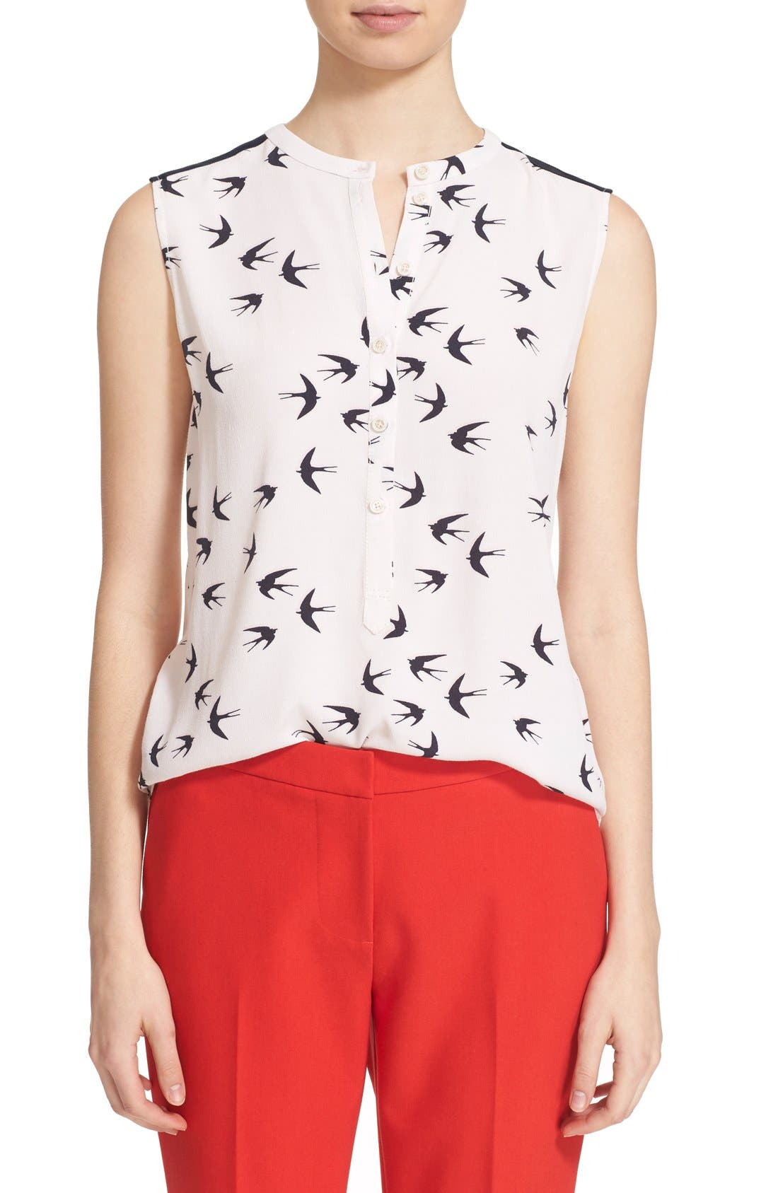 Alternate Image 1 Selected - kate spade new york 'winter' sleeveless top