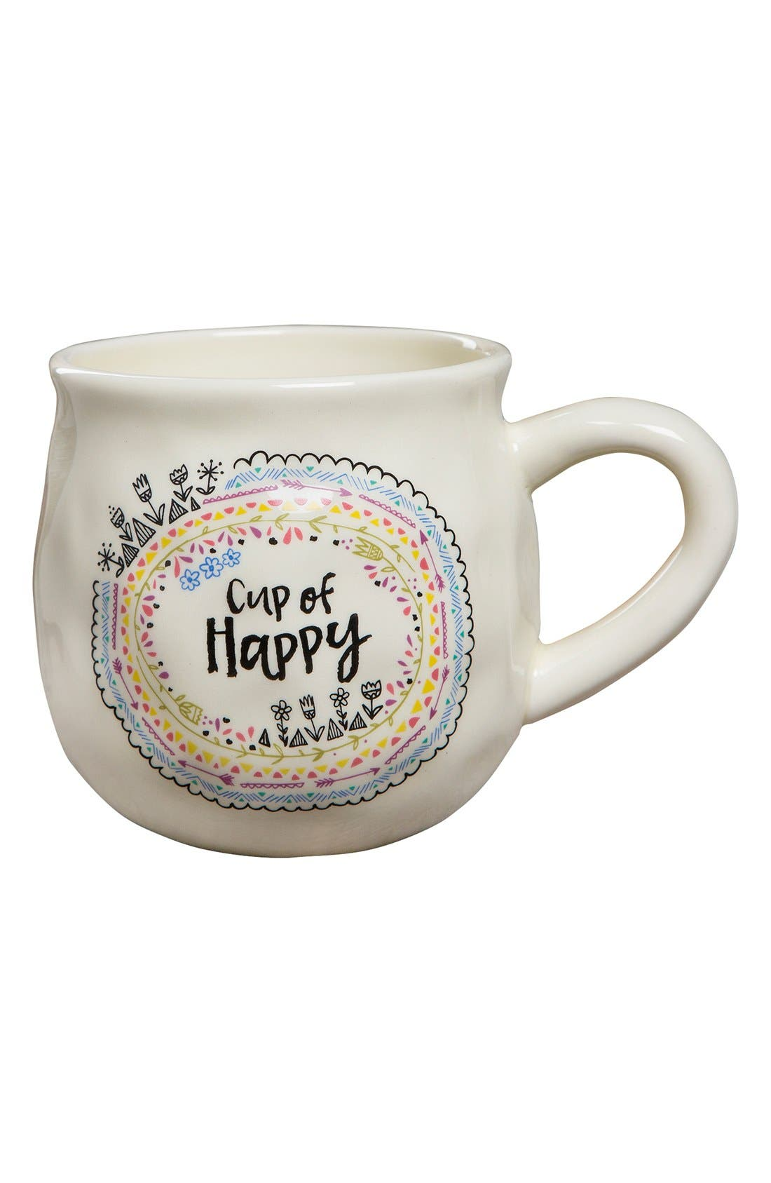 Alternate Image 1 Selected - Natural Life 'Cup of Happy' Ceramic Coffee Mug