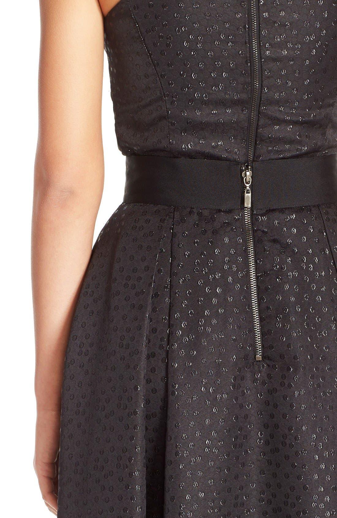 Alternate Image 3  - Sachin & Babi Noir 'Dutch' Eyelet Metallic Jacquard Ball Skirt
