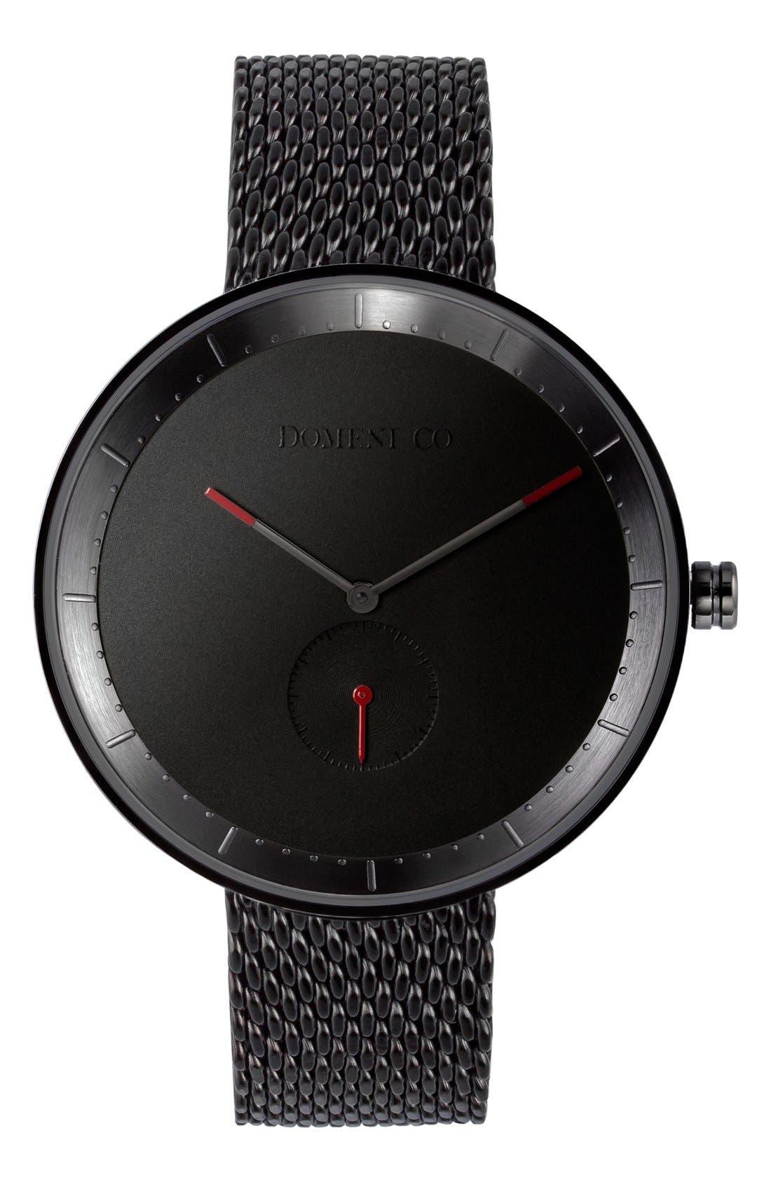 Main Image - Domeni 'Signature' Mesh Strap Watch, 40mm