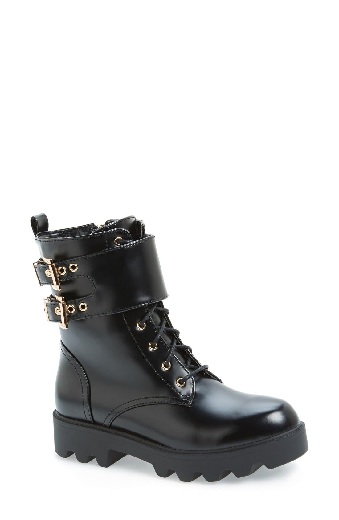 Alternate Image 1 Selected - N.Y.L.A 'Starkk' Combat Boot (Women)