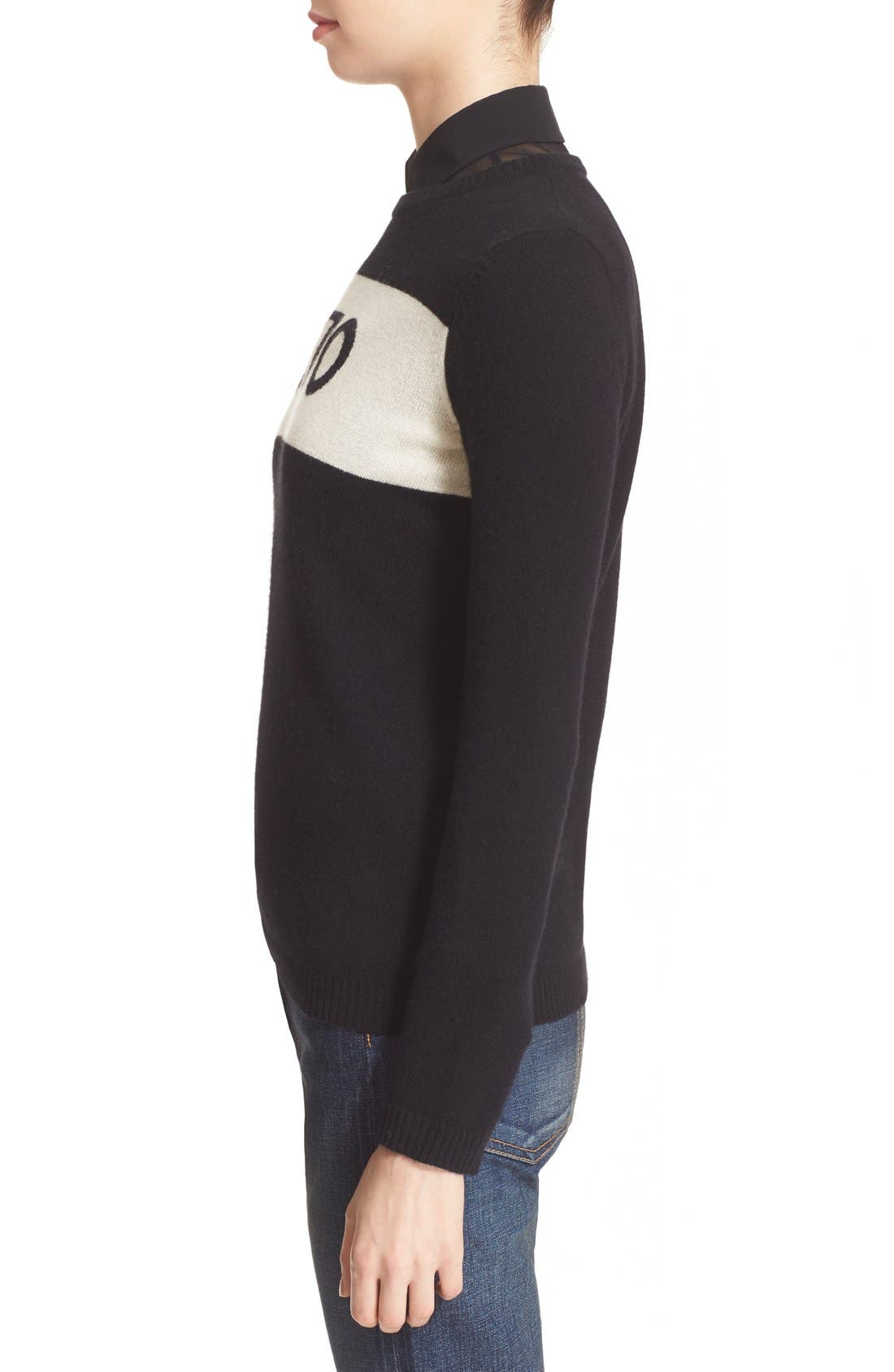 '1970' Wool Sweater,                             Alternate thumbnail 5, color,                             Black