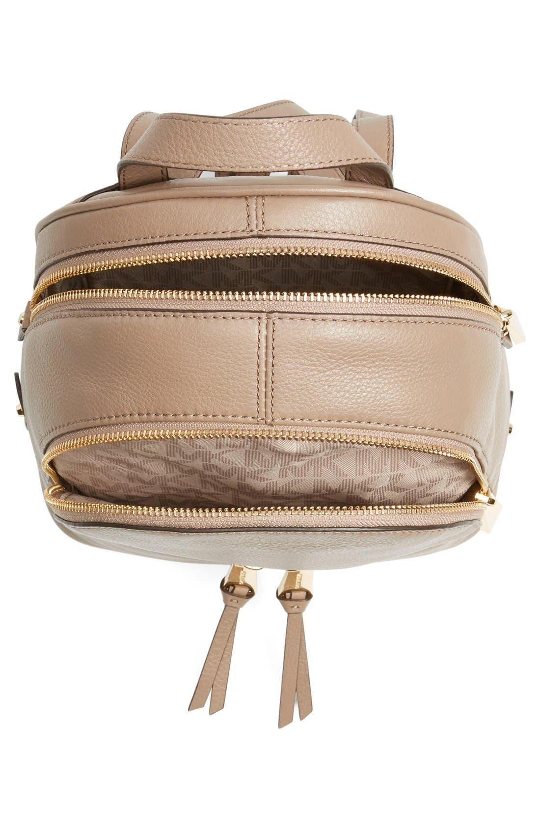 Alternate Image 4  - MICHAEL Michael Kors 'Extra Small Rhea Zip' Leather Backpack