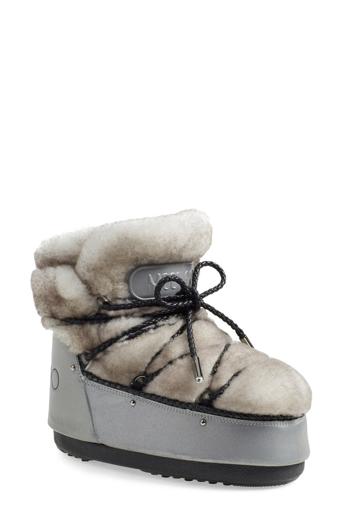 free shipping low shipping Jimmy Choo x Moon Boot Shearling-Trimmed Booties outlet locations sale online xZaREz