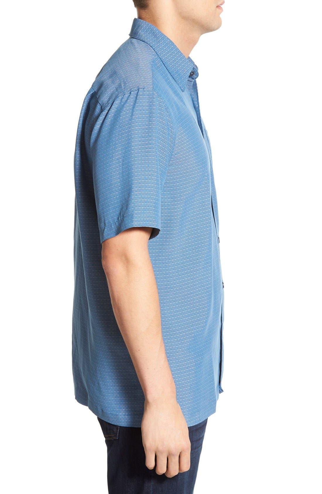 'Wind N Sea' Regular Fit Sport Shirt,                             Alternate thumbnail 3, color,                             Navy