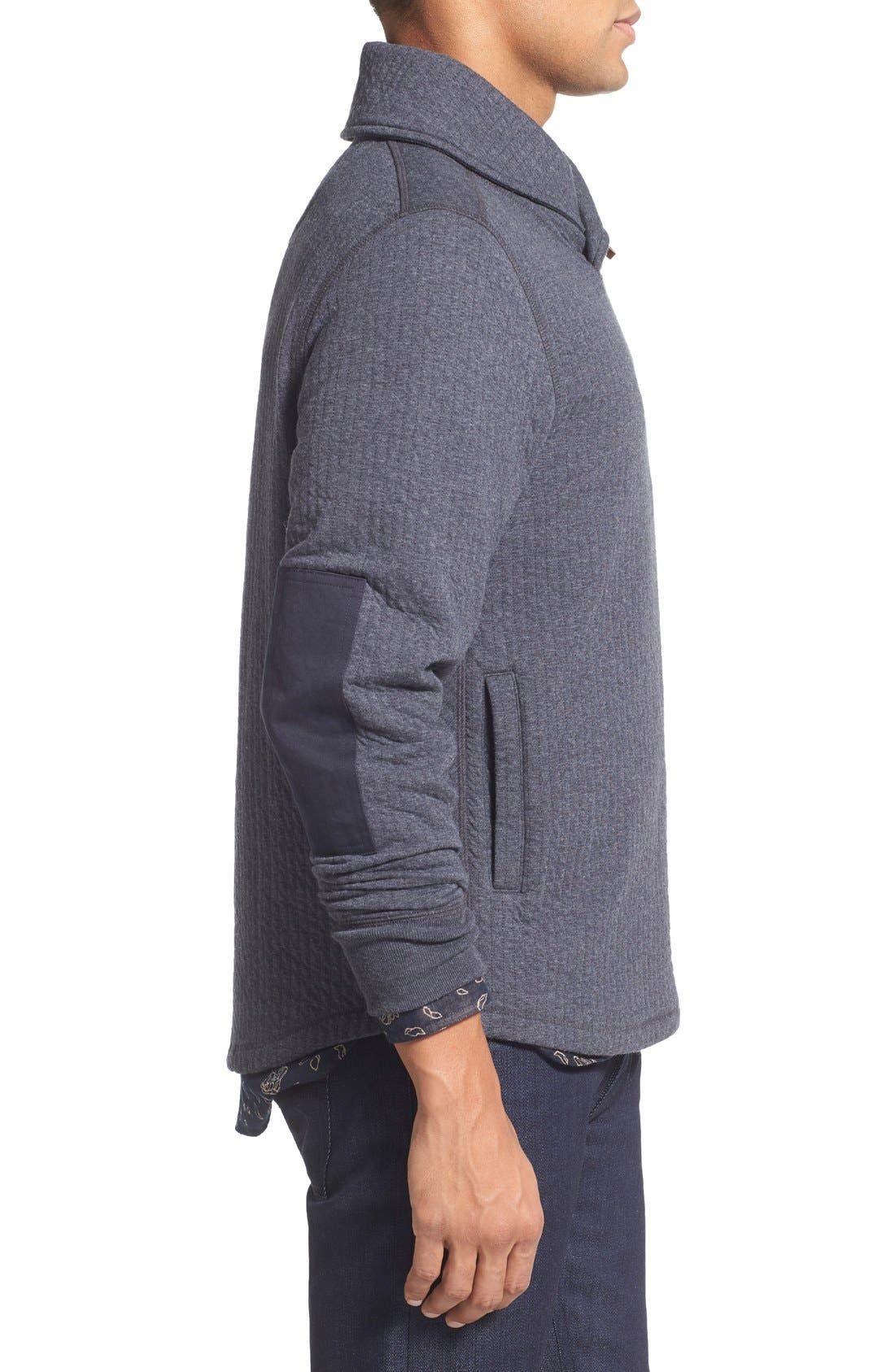 'Barnes' Shawl Collar Jersey Sweater,                             Alternate thumbnail 3, color,                             True Navy
