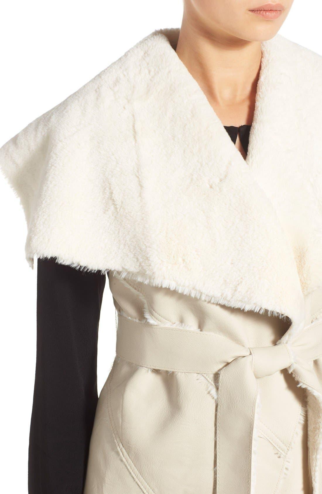 Alternate Image 4  - BLANKNYC 'Trooper' Faux Shearling Wrap Vest