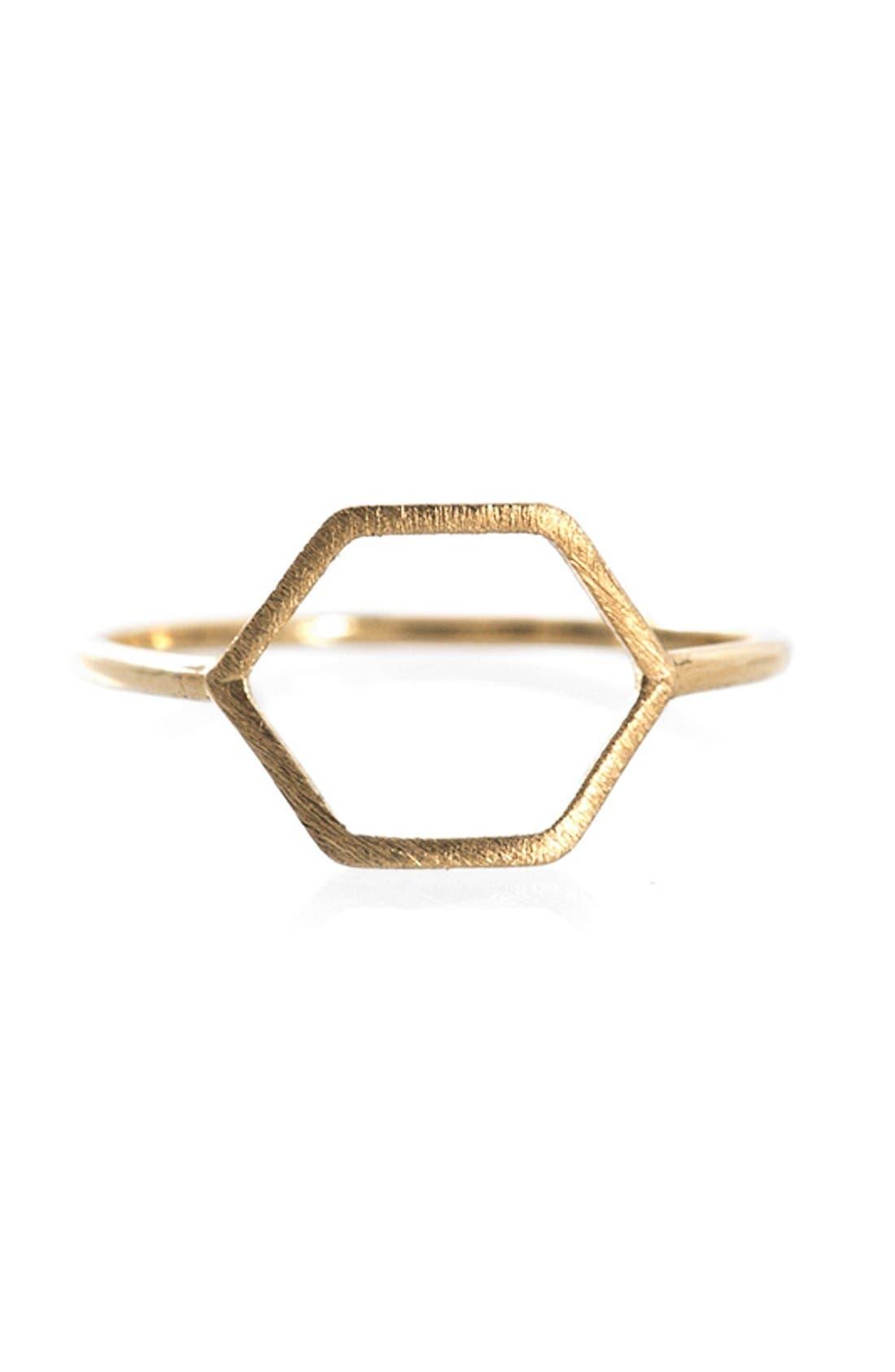 Main Image - Wanderlust + Co Hexagon Ring