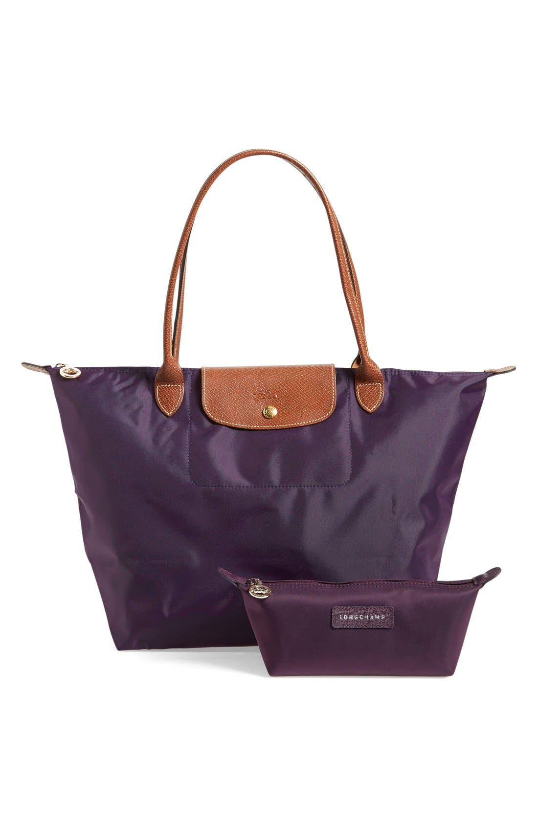 Longchamp Tote & Cosmetics Case