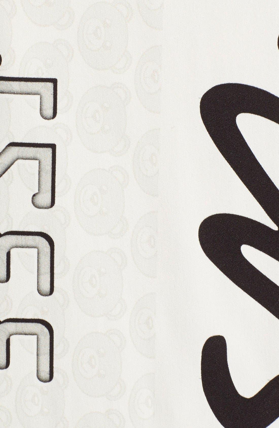 Alternate Image 3  - Moschino Credit Card Print Satin Dress