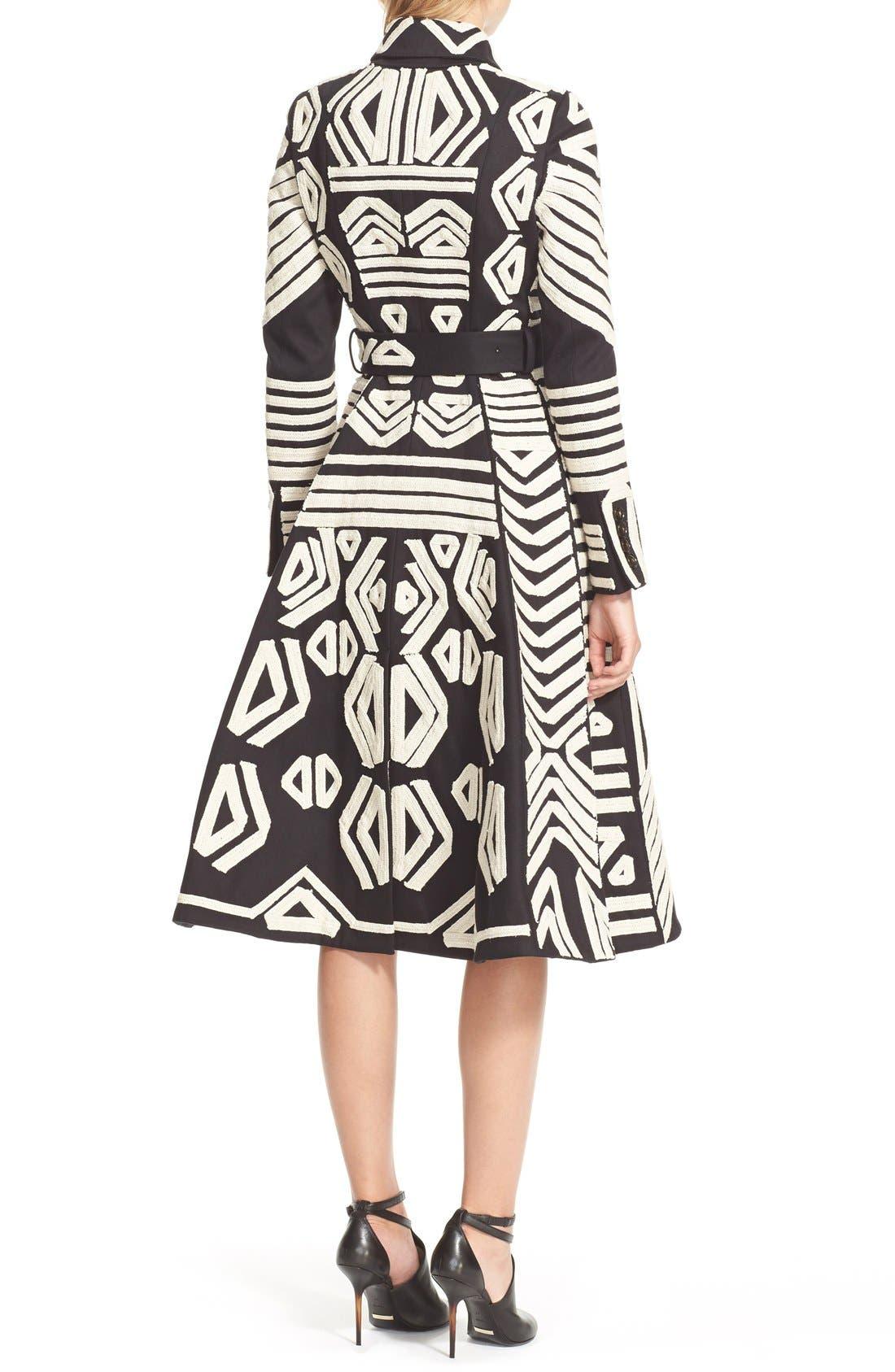 Alternate Image 2  - Burberry Prorsum Embellished Cotton Trench Coat