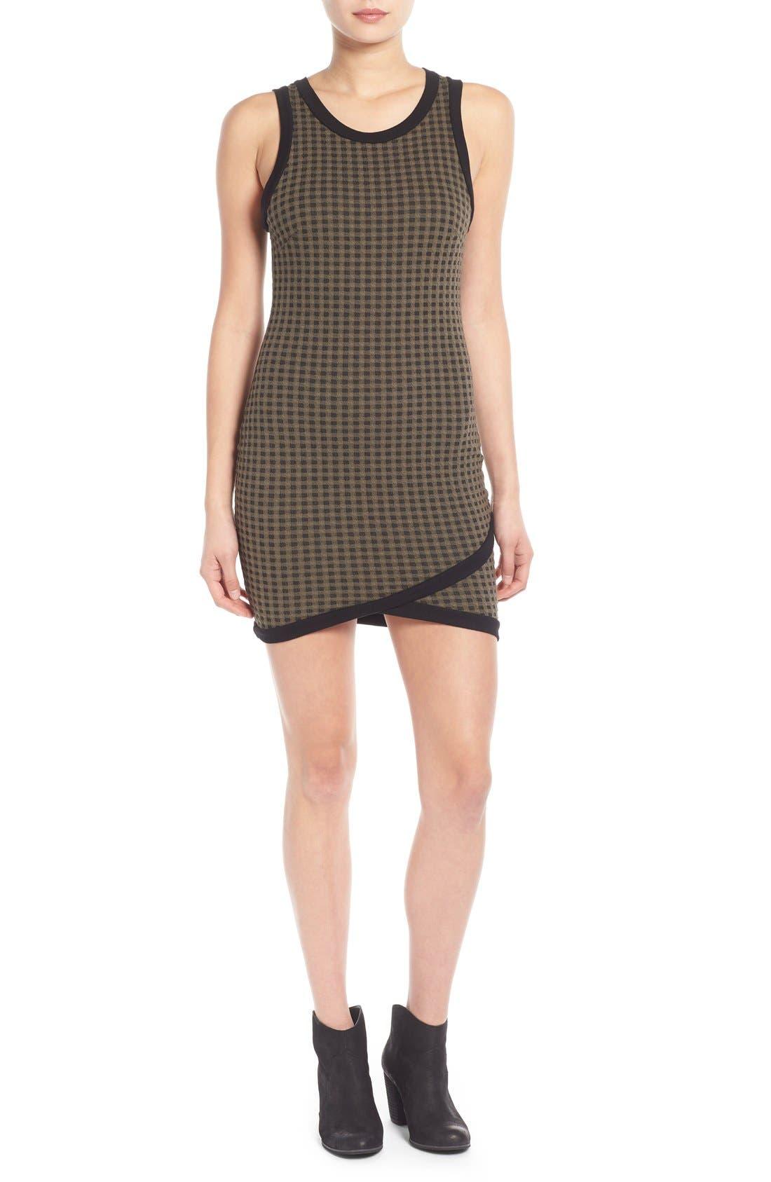 Alternate Image 1 Selected - Lush Surplice Hem Knit Body-Con Dress