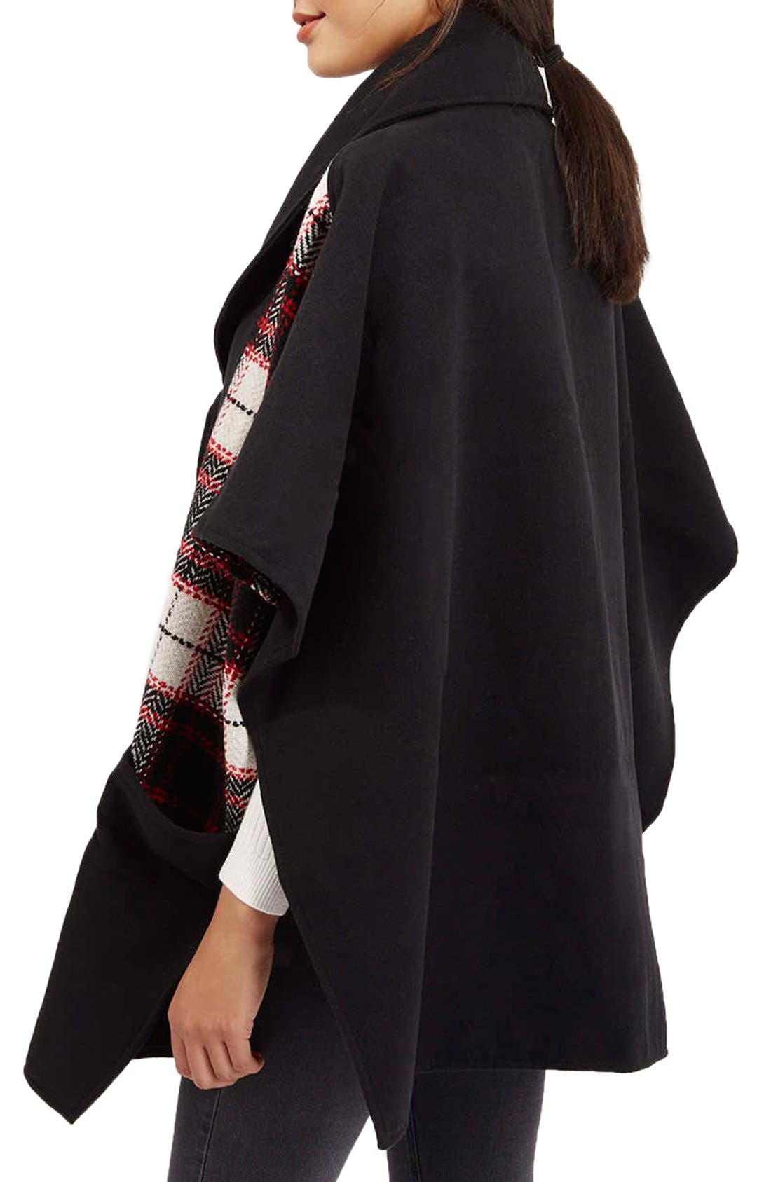 Alternate Image 3  - Topshop Mixed Check Cape