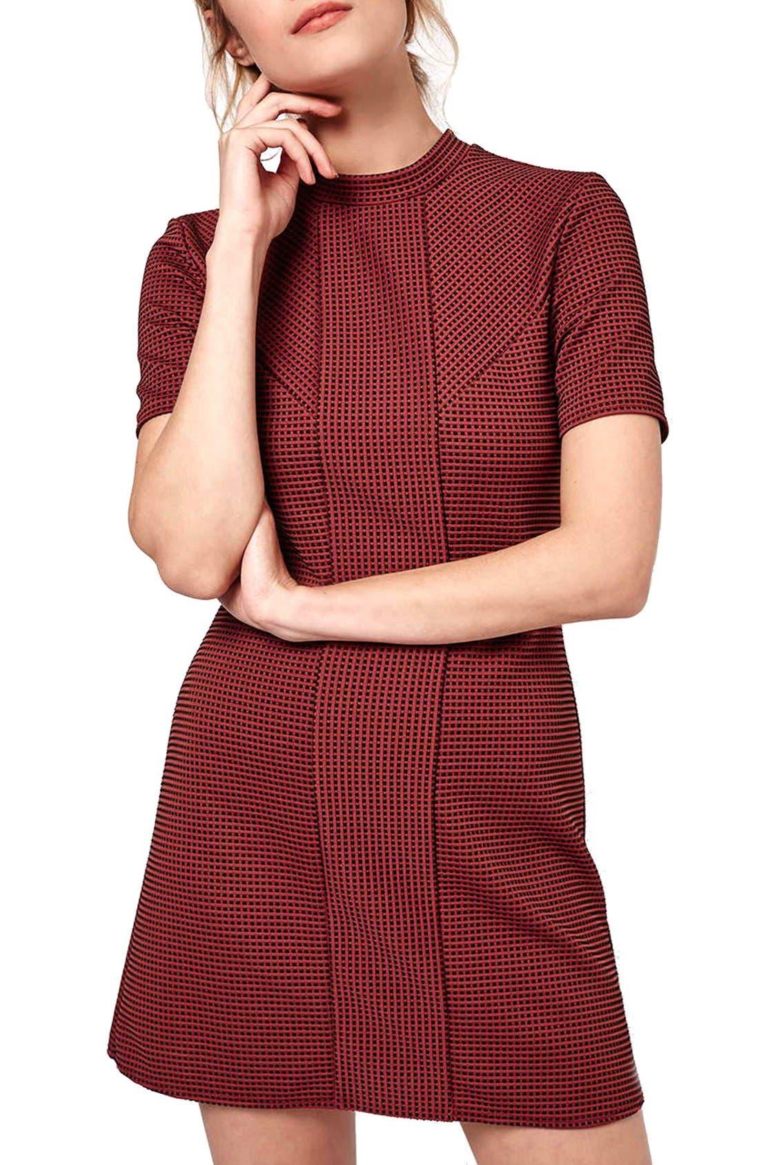 Main Image - Topshop Paneled A-Line Dress (Petite)