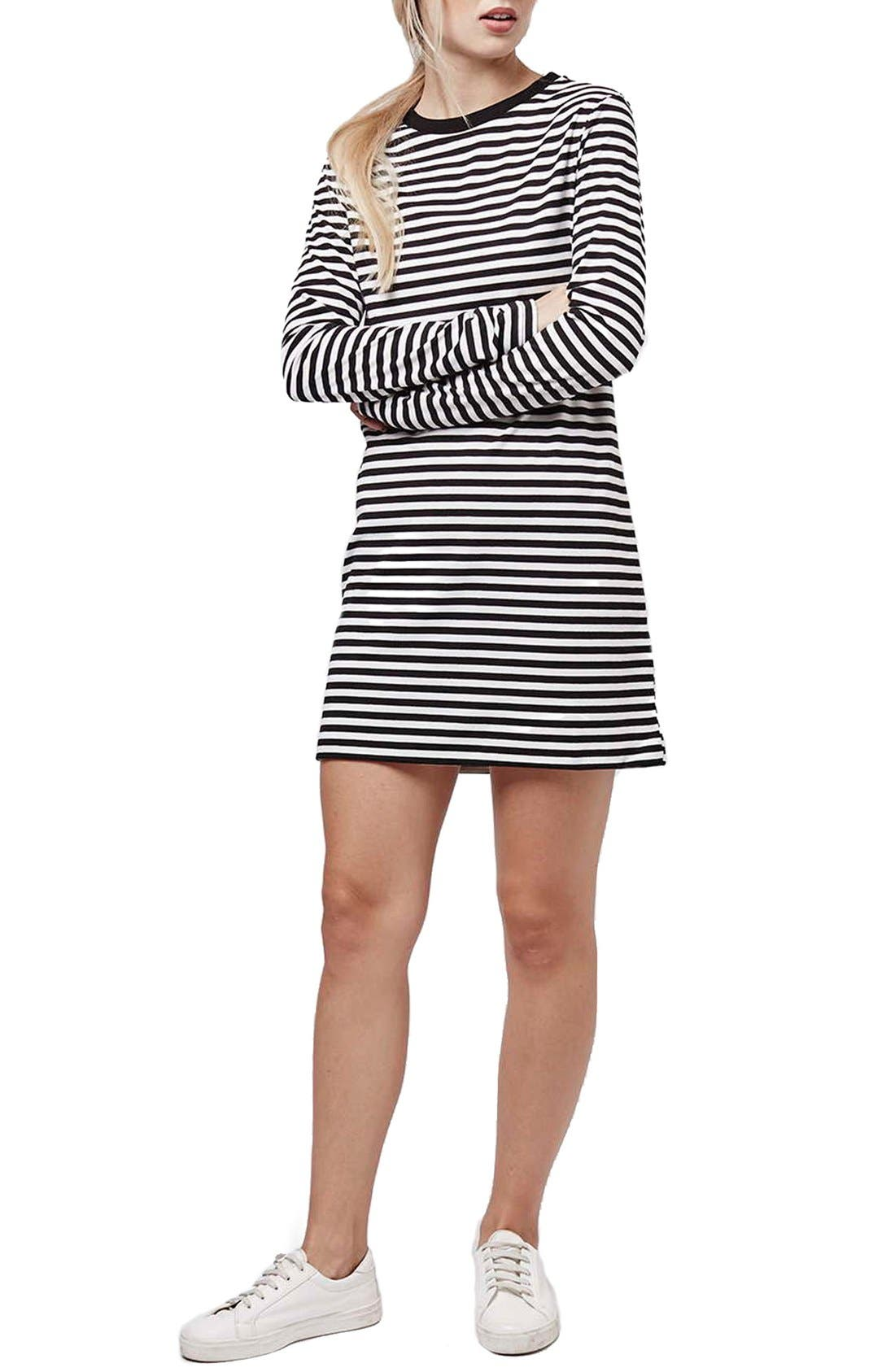 Alternate Image 2  - Topshop Stripe Long Sleeve Tunic Dress