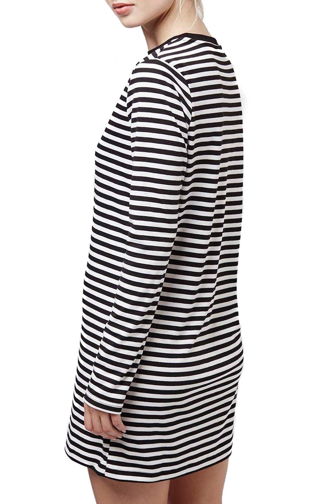 Alternate Image 3  - Topshop Stripe Long Sleeve Tunic Dress