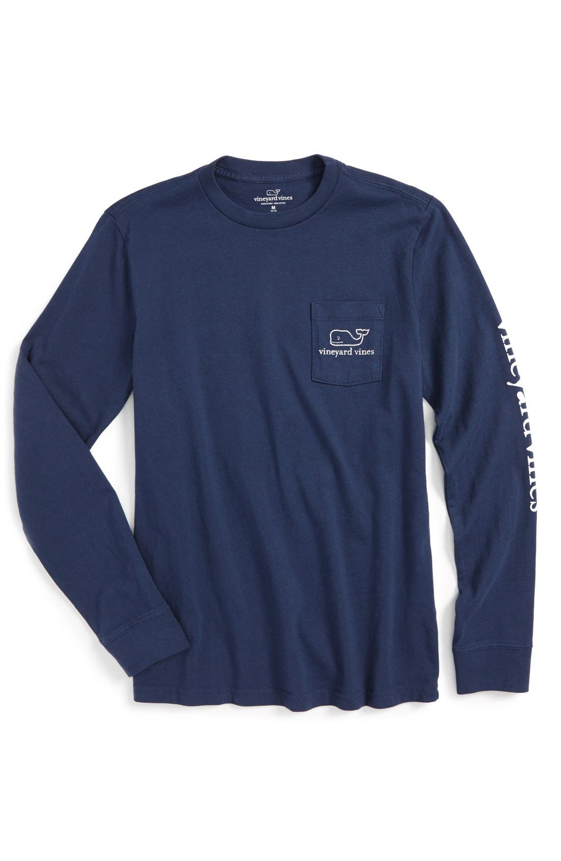 Main Image - vineyard vines Vintage Whale Graphic Long Sleeve T-Shirt (Big Boys)