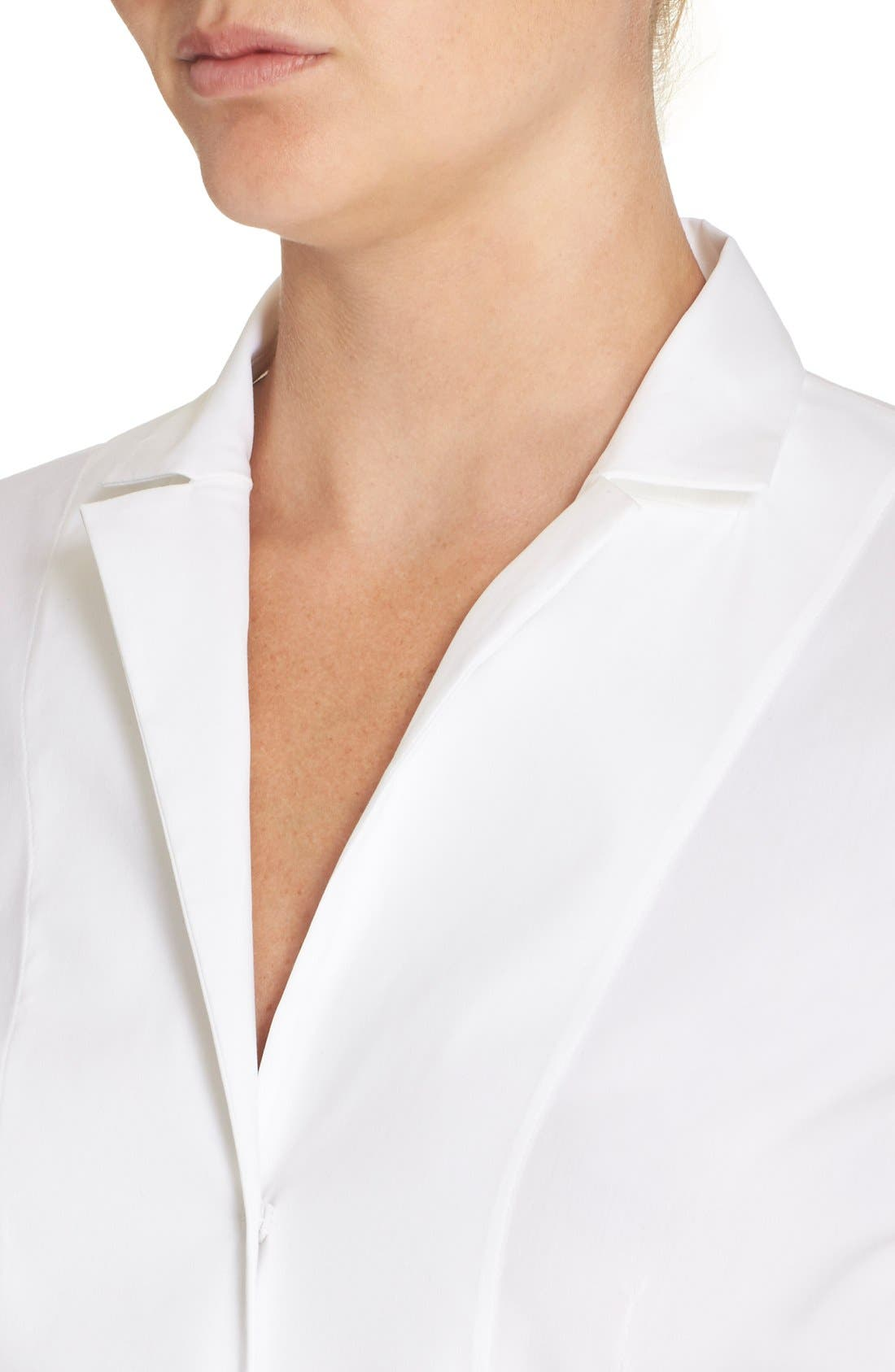 Cotton Poplin Blouse,                             Alternate thumbnail 5, color,                             White