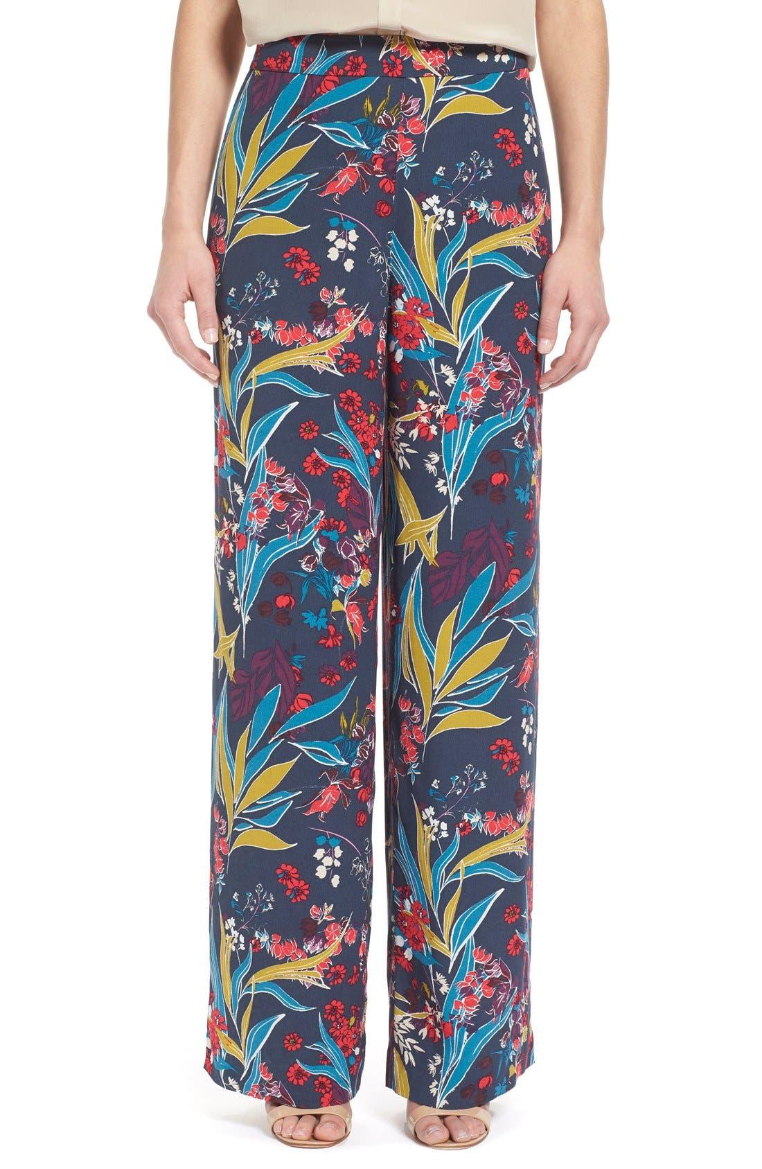 Main Image - Chelsea28 Print Wide Leg Pants