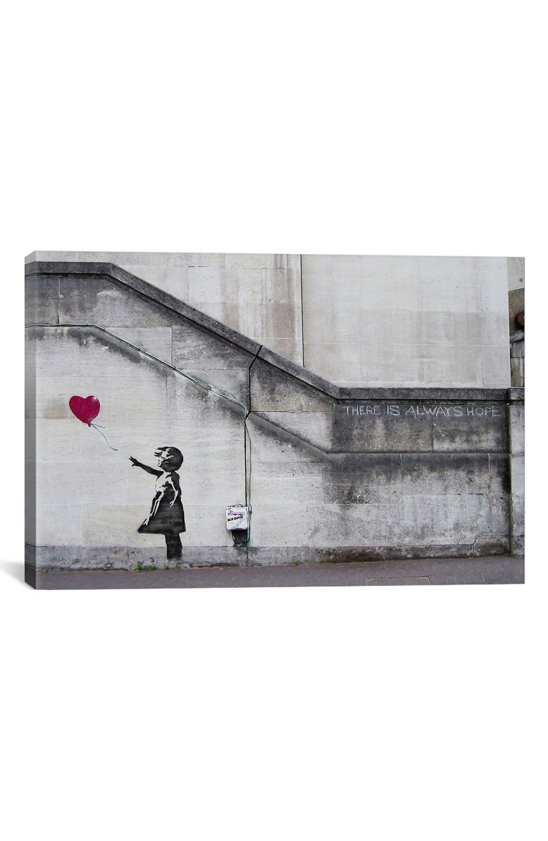 'There is Always Hope' Giclée Print Canvas Art,                             Main thumbnail 1, color,                             Grey