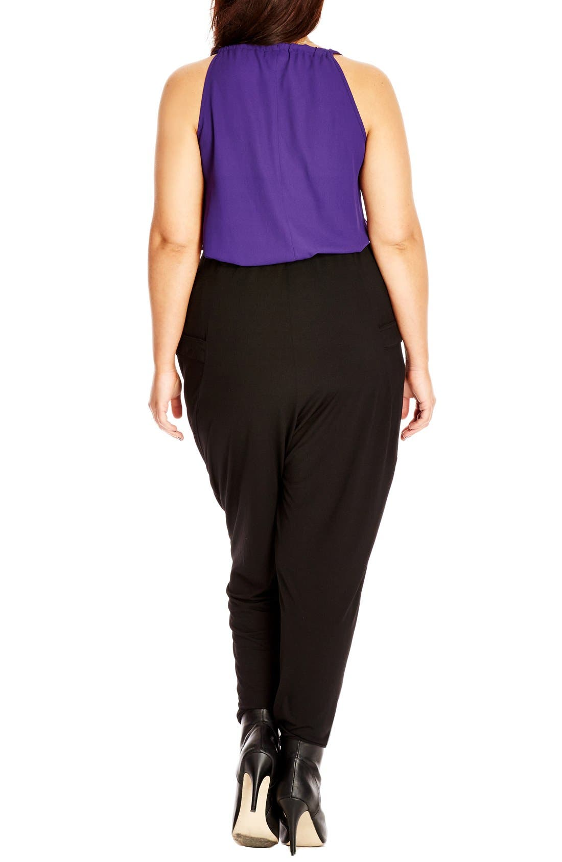 Alternate Image 2  - City Chic Wrap Front Harem Pants (Plus Size)